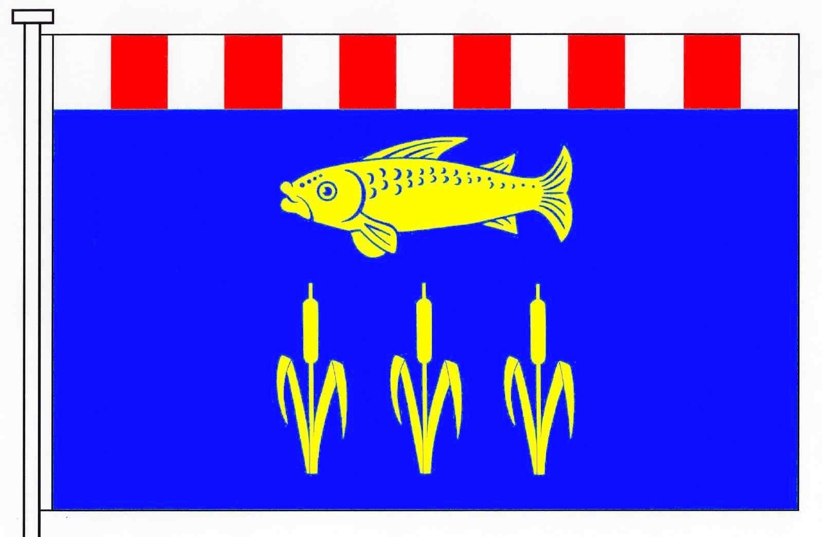 Flagge GemeindeAventoft, Kreis Nordfriesland
