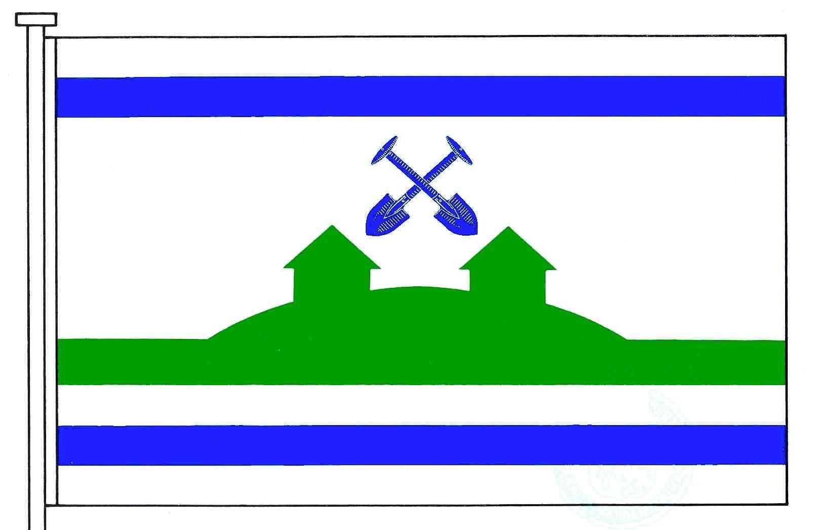 Flagge GemeindeAverlak, Kreis Dithmarschen