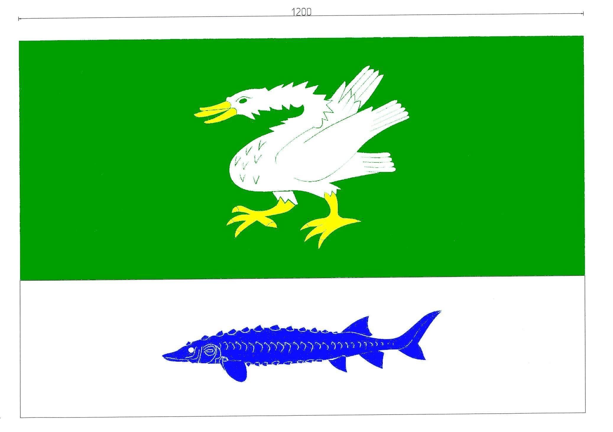 Flagge GemeindeBahrenfleth, Kreis Steinburg