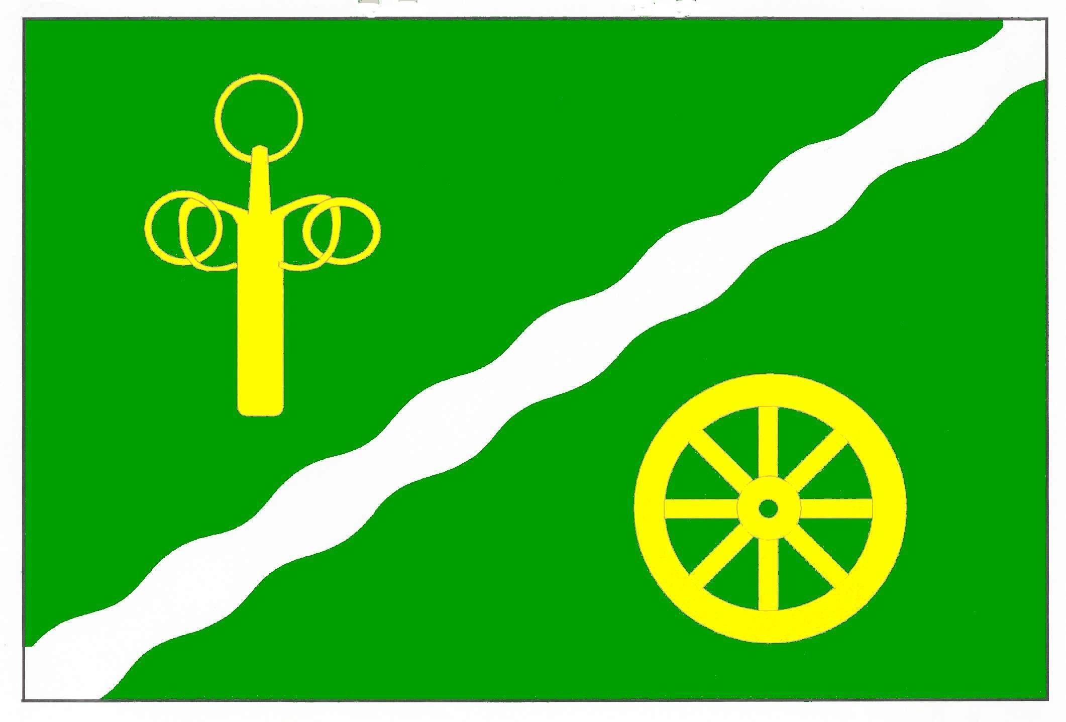 Flagge GemeindeBorgstedt, Kreis Rendsburg-Eckernförde