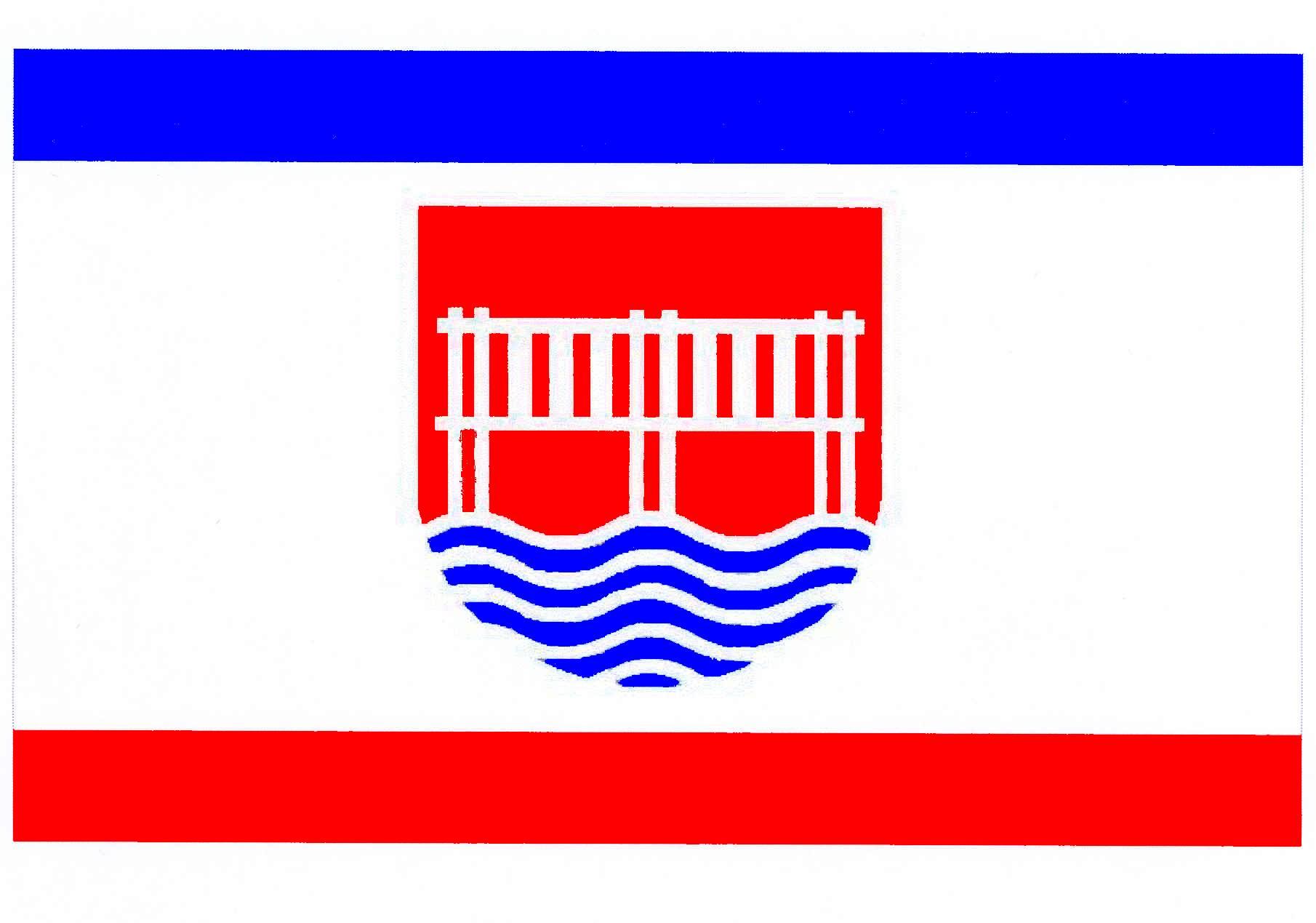 Flagge StadtBredstedt, Kreis Nordfriesland