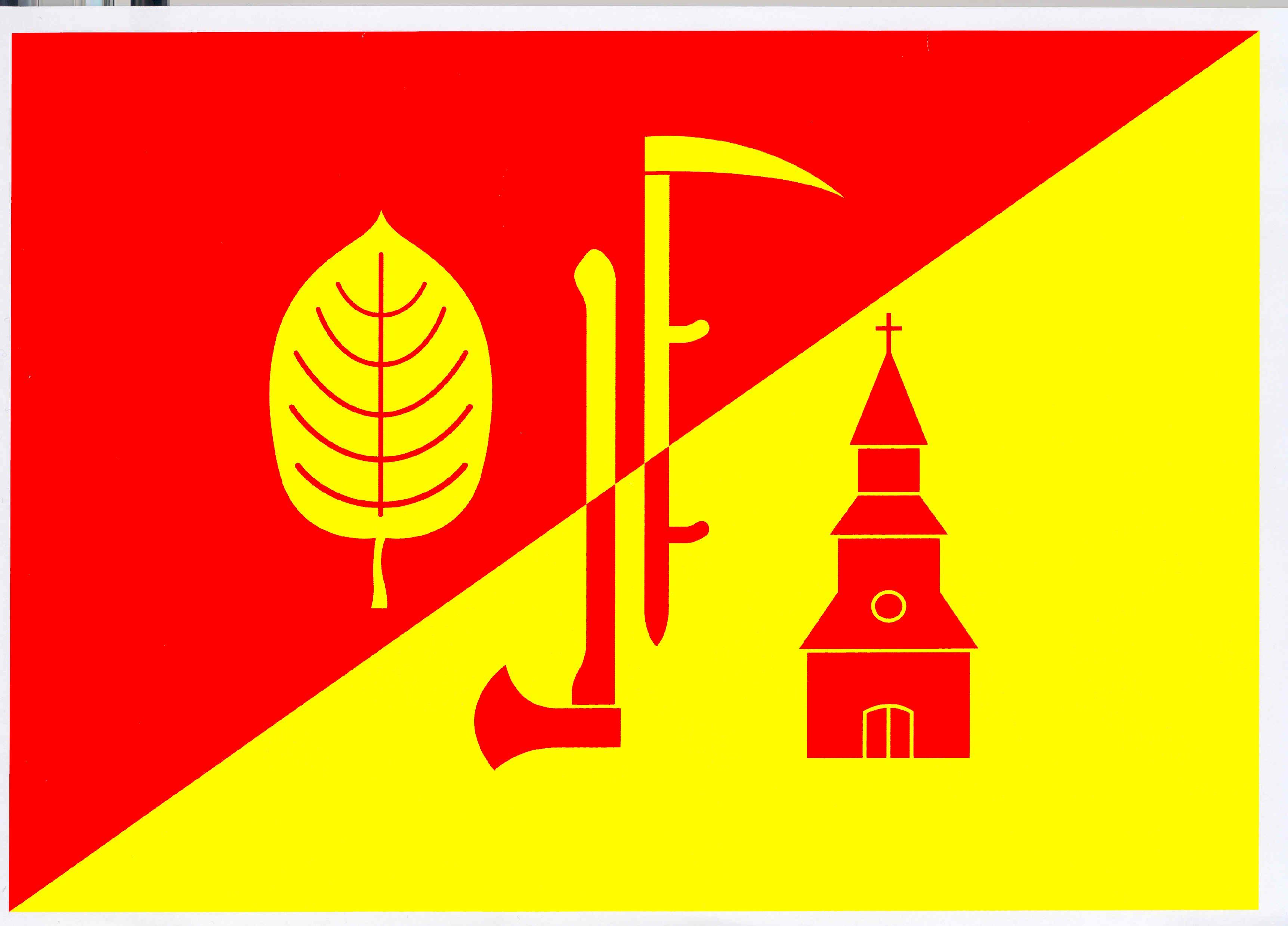 Flagge GemeindeBrunstorf, Kreis Herzogtum Lauenburg