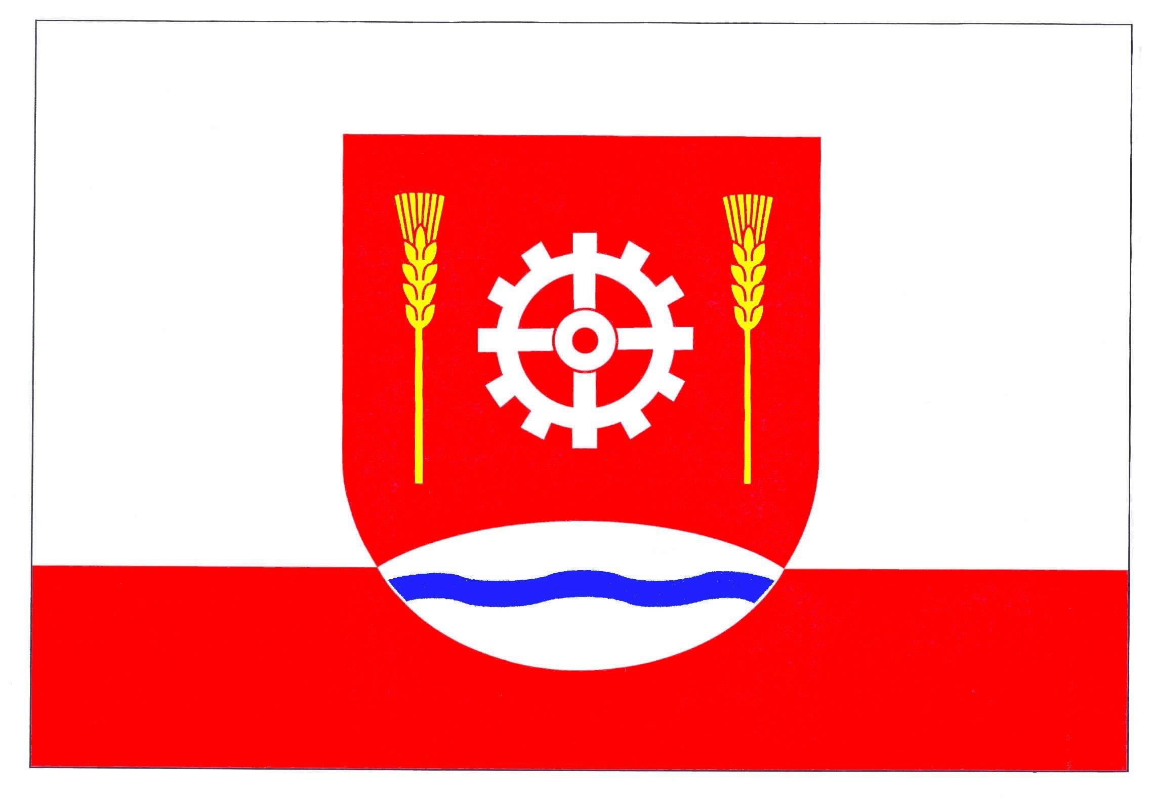 Flagge GemeindeDägeling, Kreis Steinburg