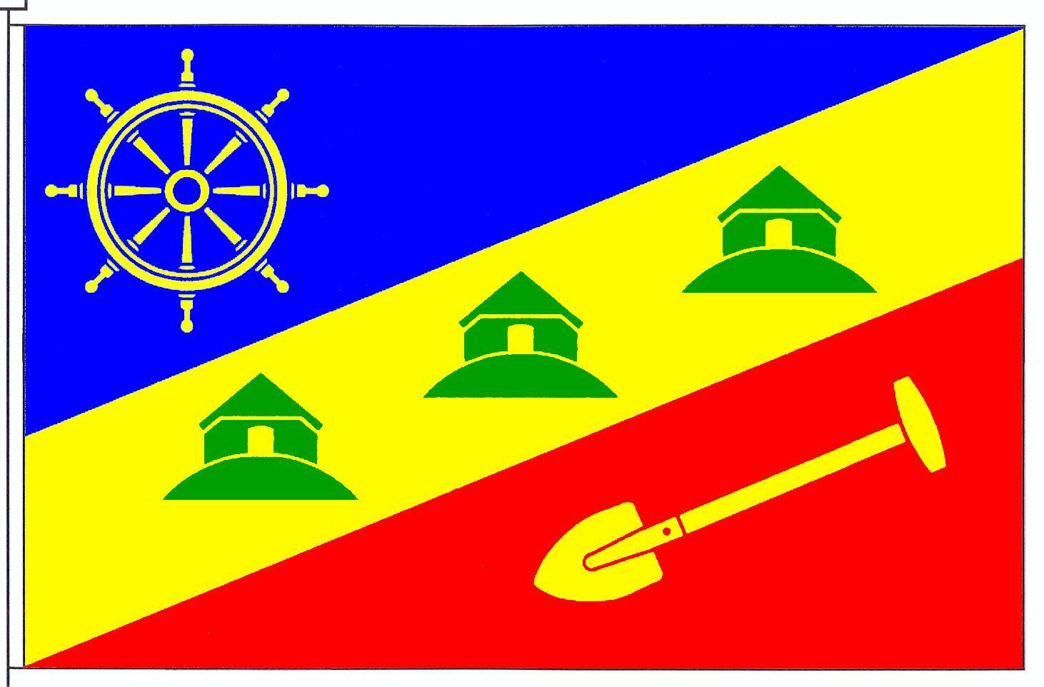 Flagge GemeindeDagebüll, Kreis Nordfriesland