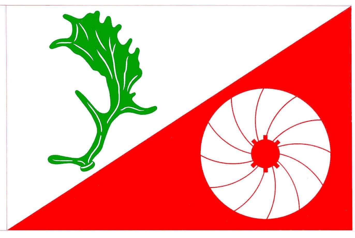 Flagge GemeindeDamsdorf, Kreis Segeberg
