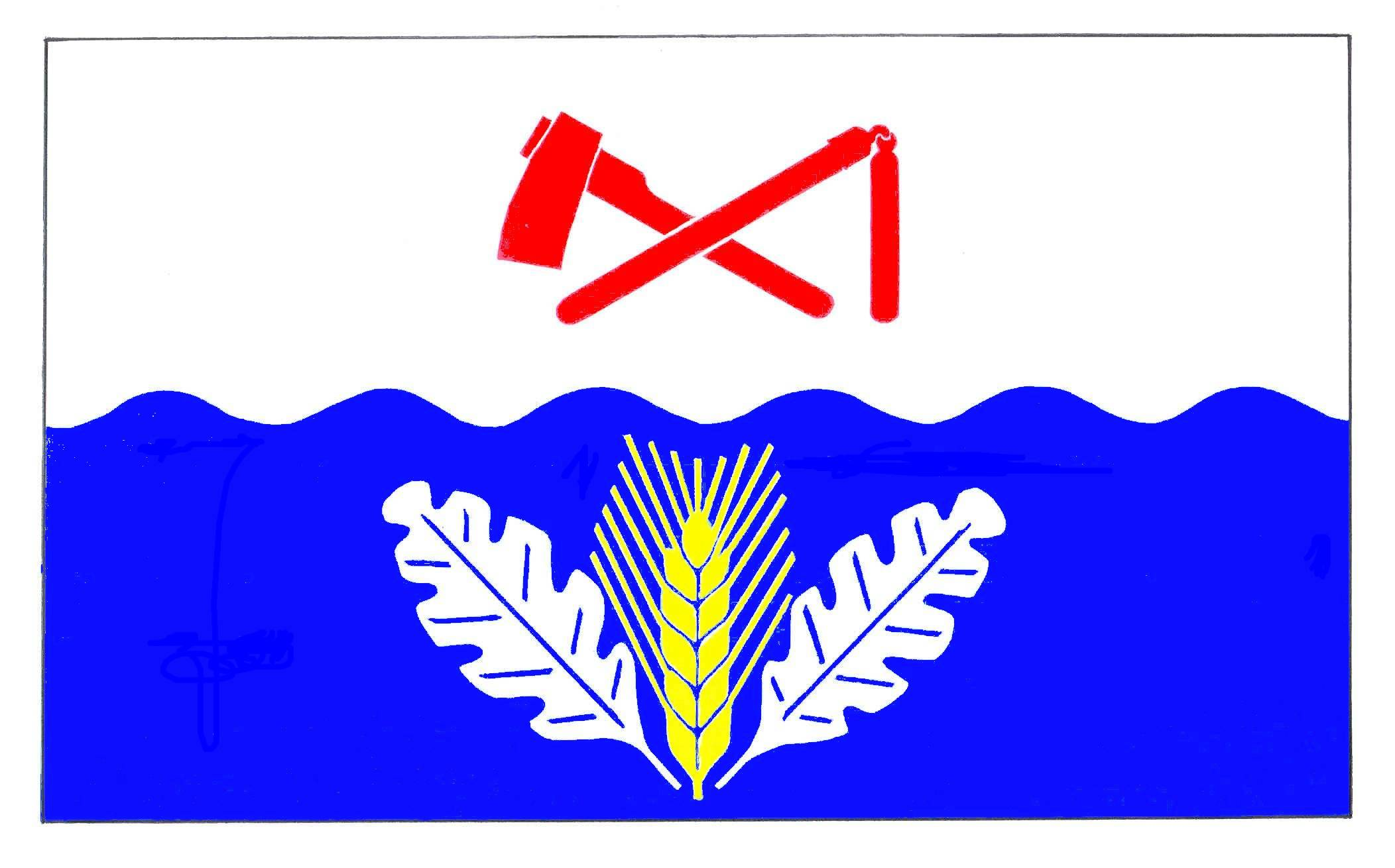 Flagge GemeindeDannau, Kreis Plön