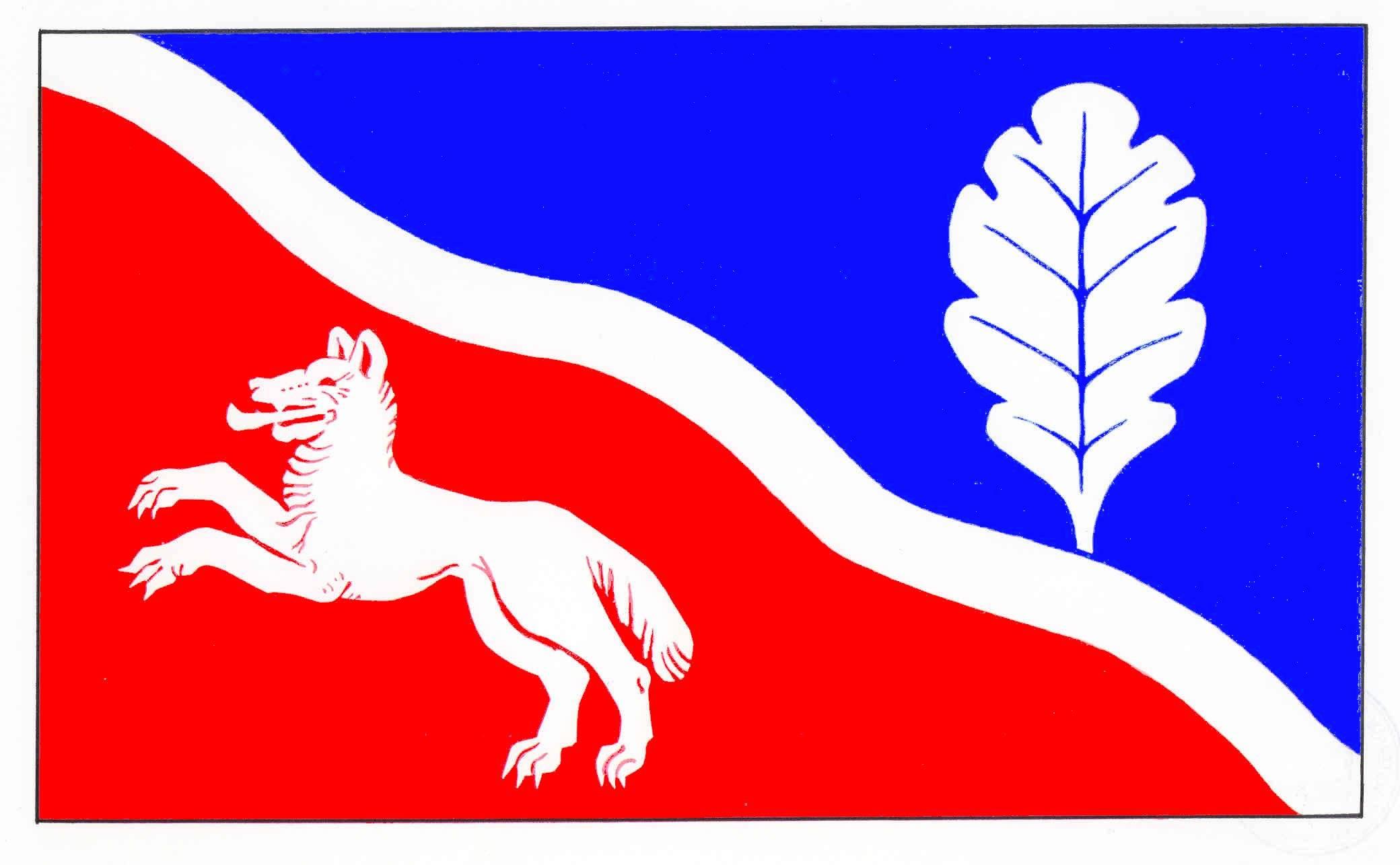 Flagge GemeindeDobersdorf, Kreis Plön