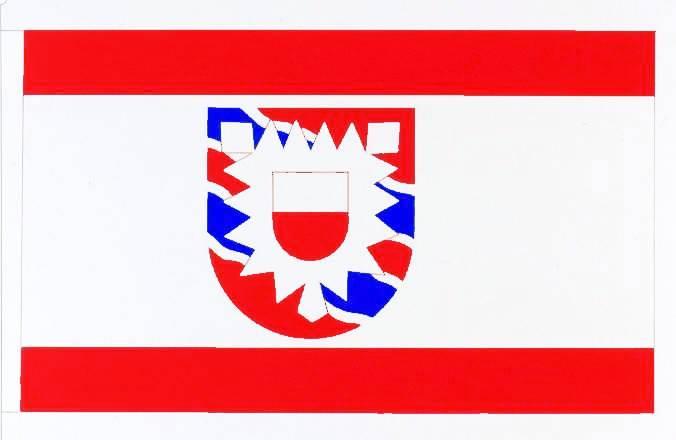 Flagge StadtFriedrichstadt, Kreis Nordfriesland