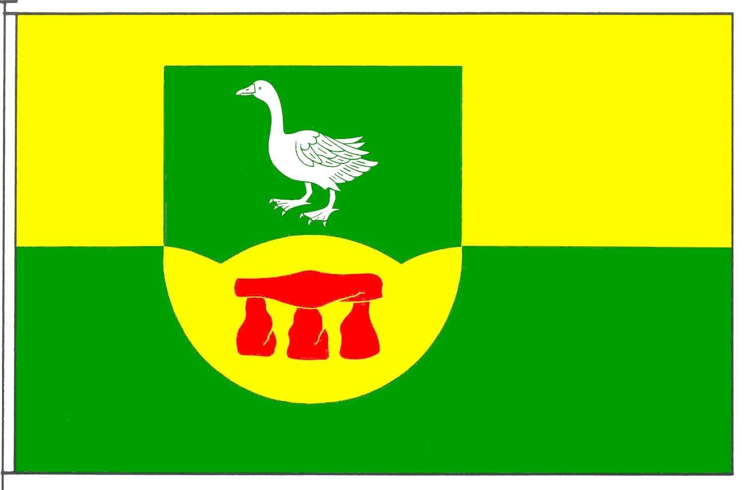 Flagge GemeindeGoosefeld, Kreis Rendsburg-Eckernförde