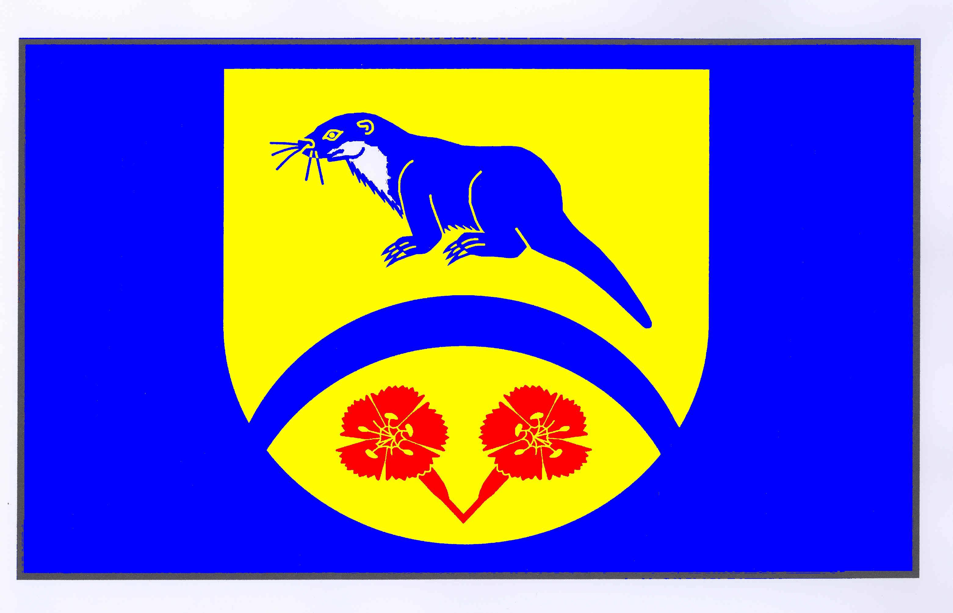 Flagge GemeindeGrambek, Kreis Herzogtum Lauenburg