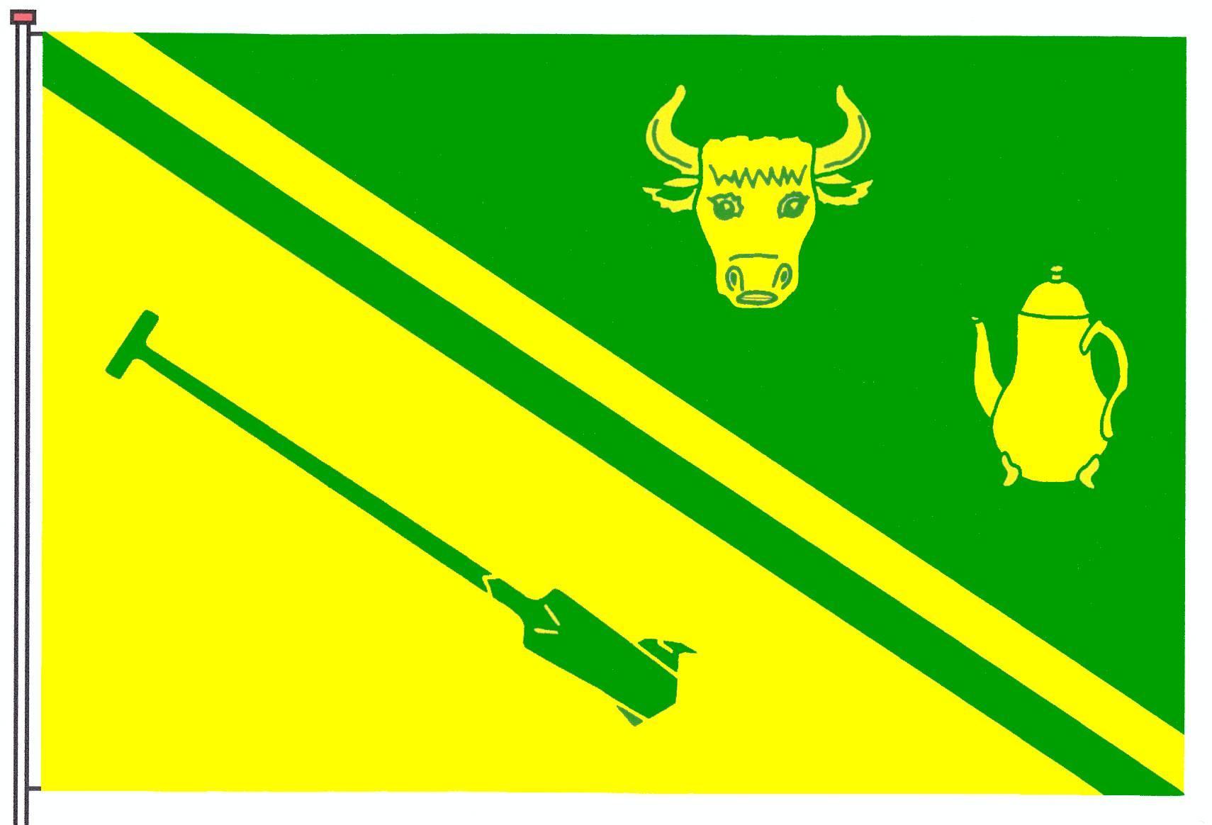Flagge GemeindeHaselund, Kreis Nordfriesland