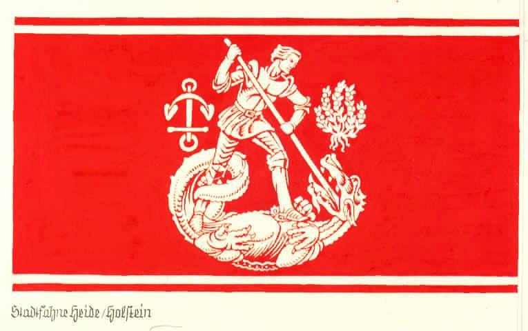 Flagge StadtHeide, Kreis Dithmarschen