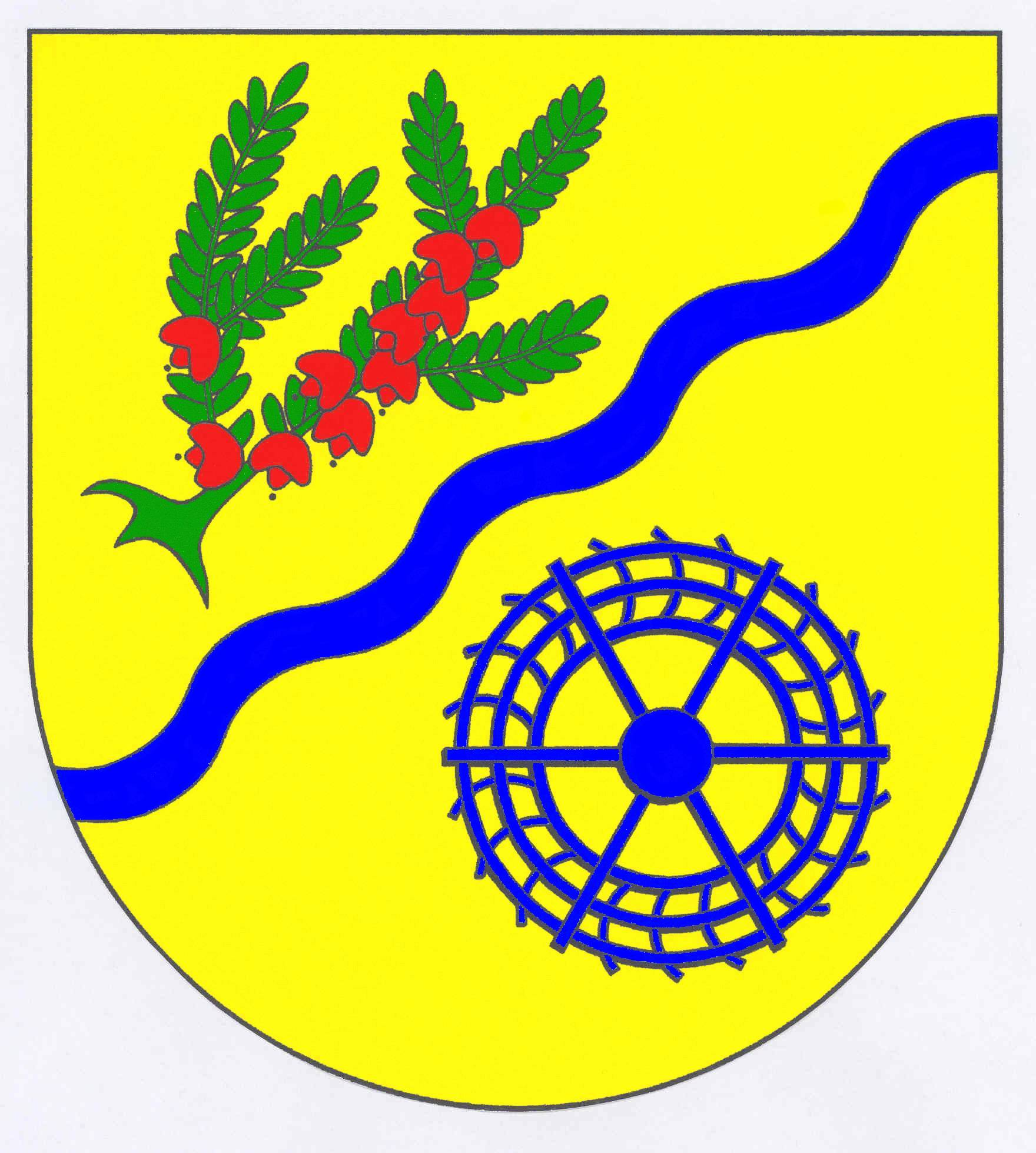 Wappen GemeindeHeidmühlen, Kreis Segeberg