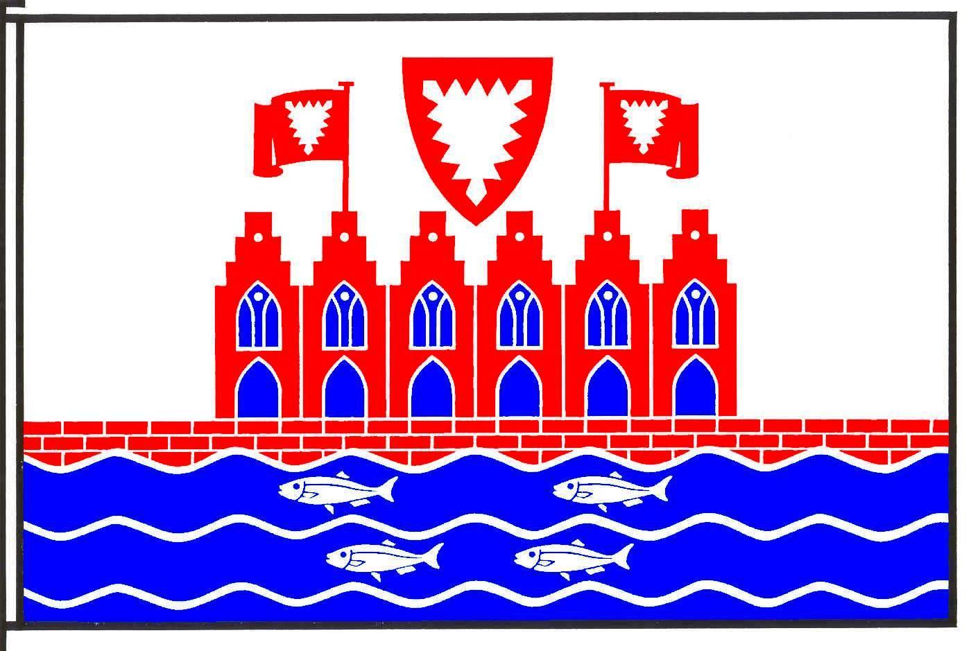 Flagge StadtHeiligenhafen, Kreis Ostholstein