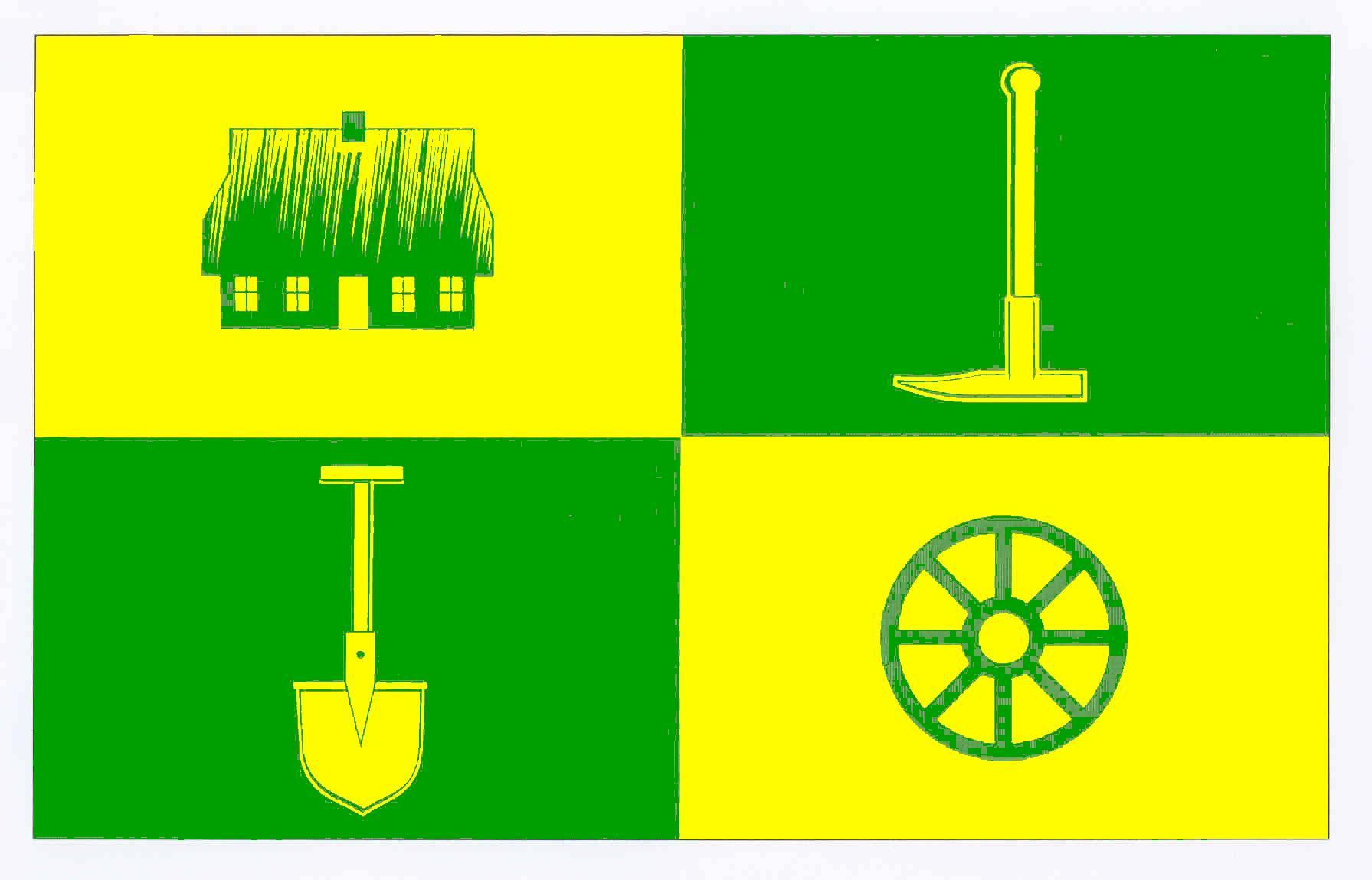 Flagge GemeindeHeiligenstedtenerkamp, Kreis Steinburg