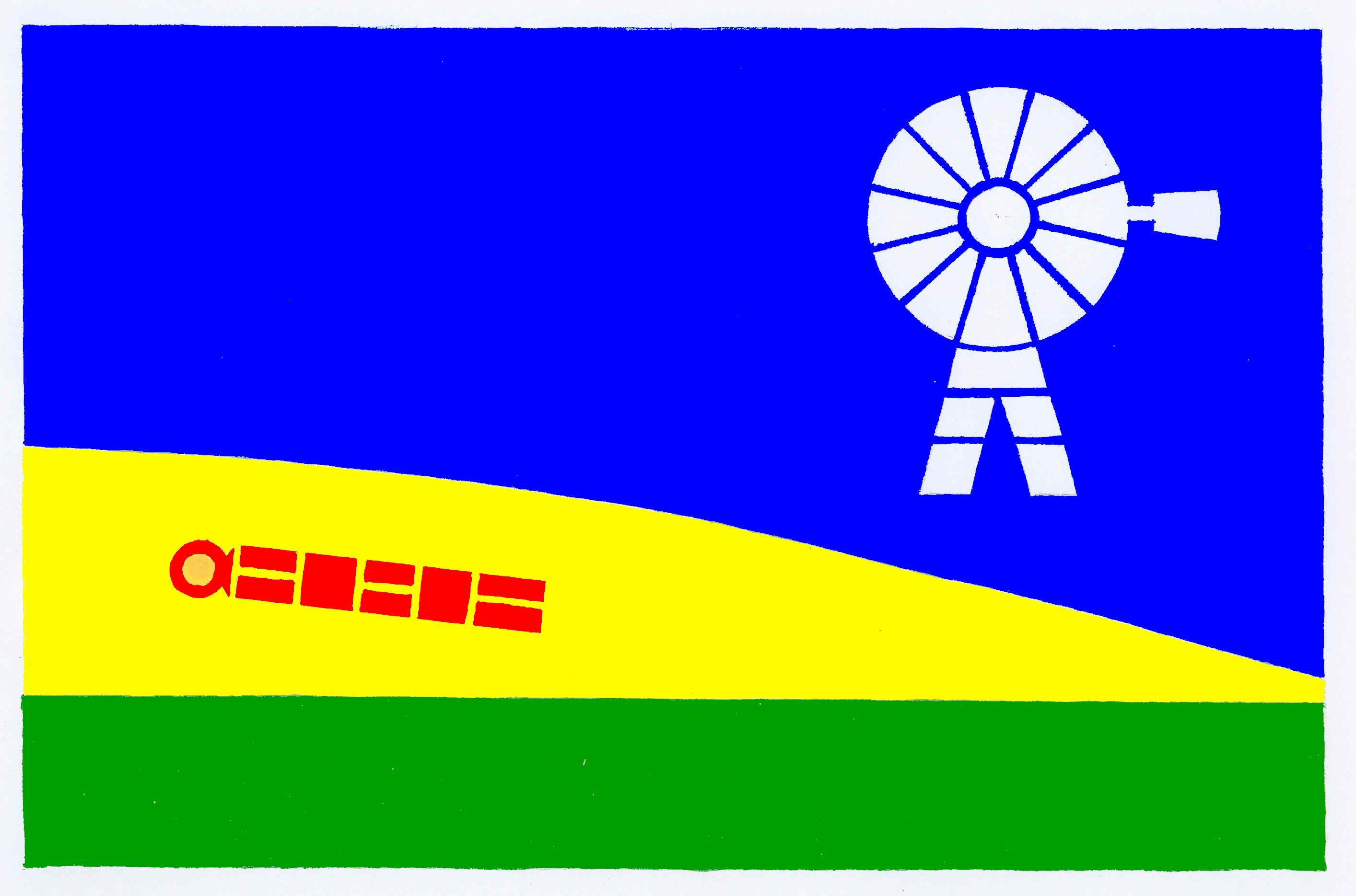 Flagge GemeindeHögel, Kreis Nordfriesland
