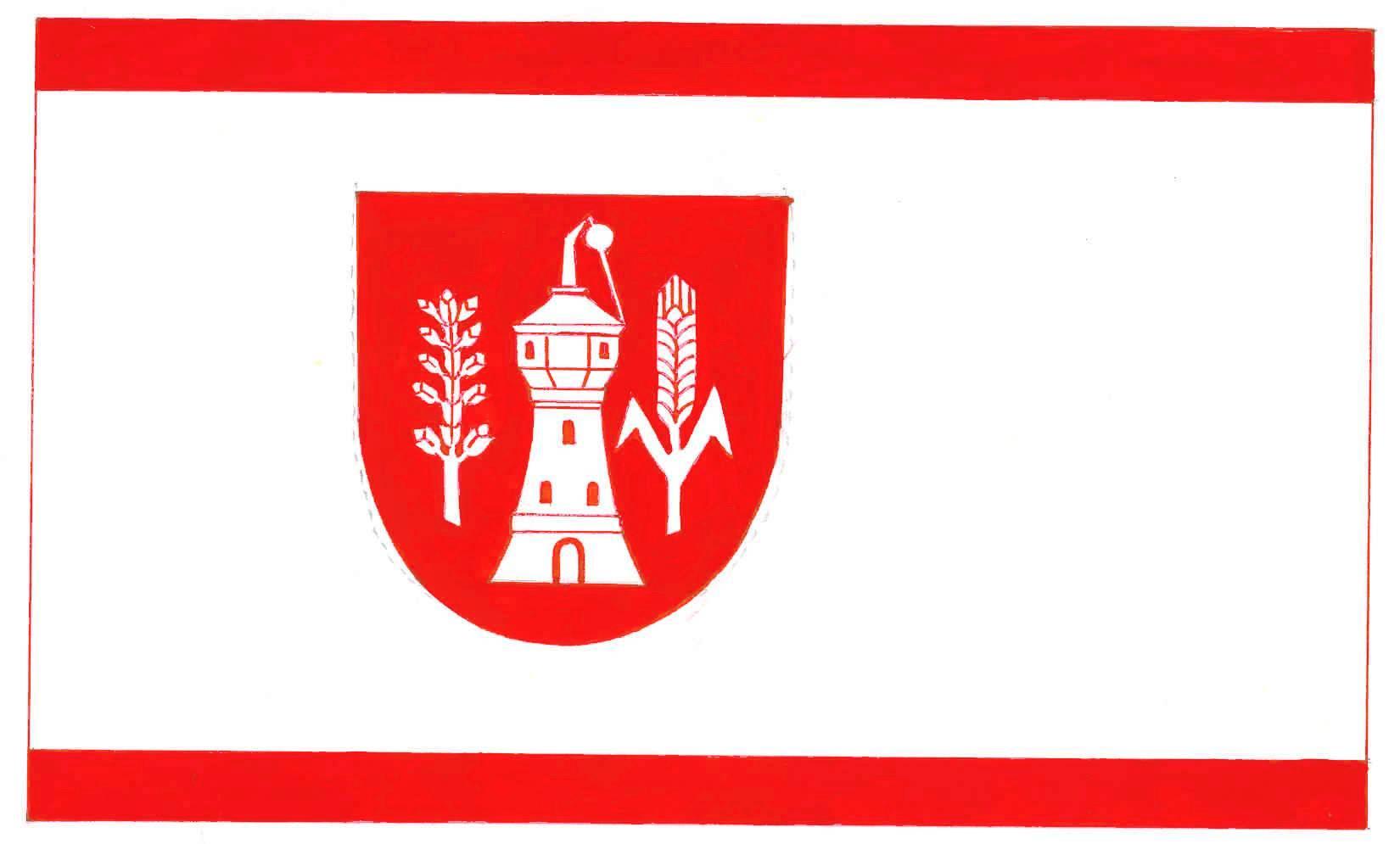 Flagge GemeindeHohenlockstedt, Kreis Steinburg