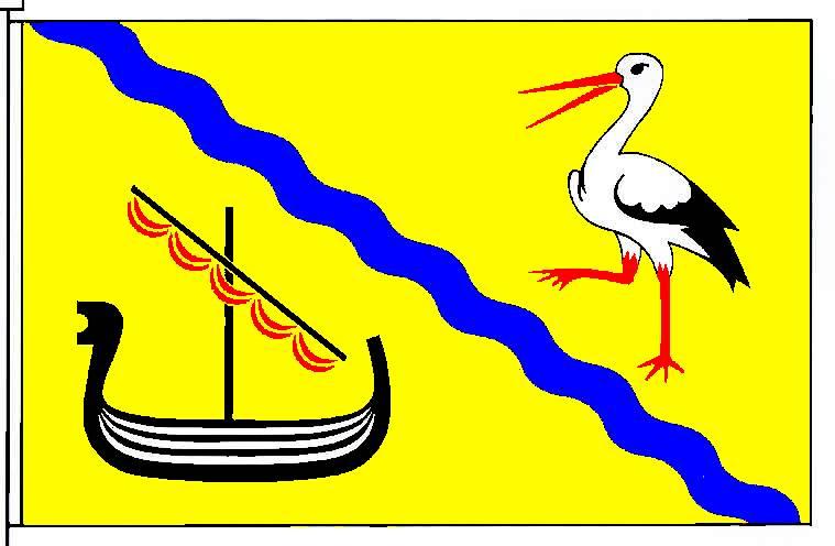 Flagge GemeindeHollingstedt, Kreis Schleswig-Flensburg