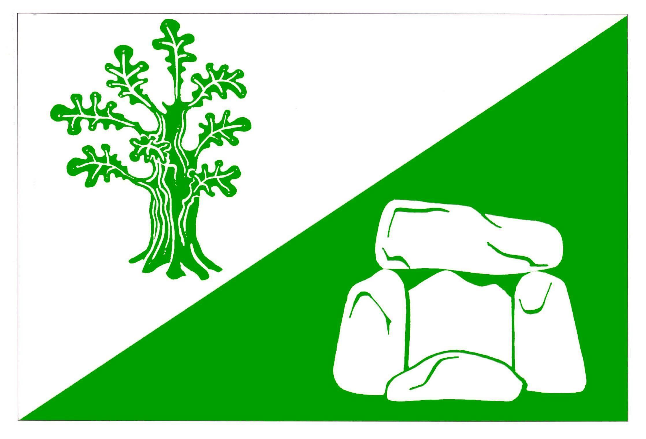 Flagge GemeindeHüsby, Kreis Schleswig-Flensburg