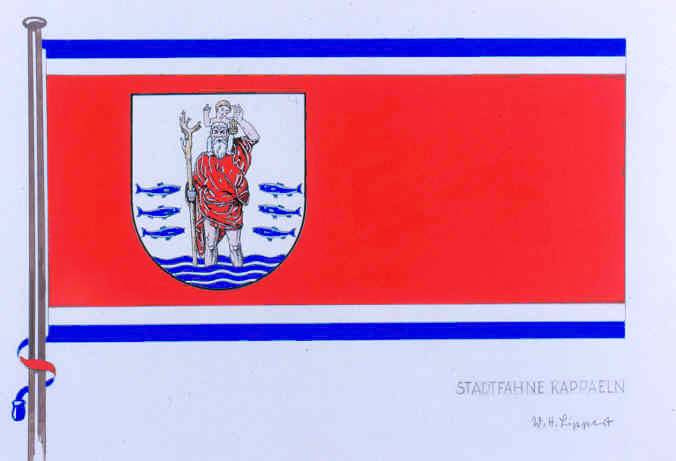 Flagge StadtKappeln, Kreis Schleswig-Flensburg