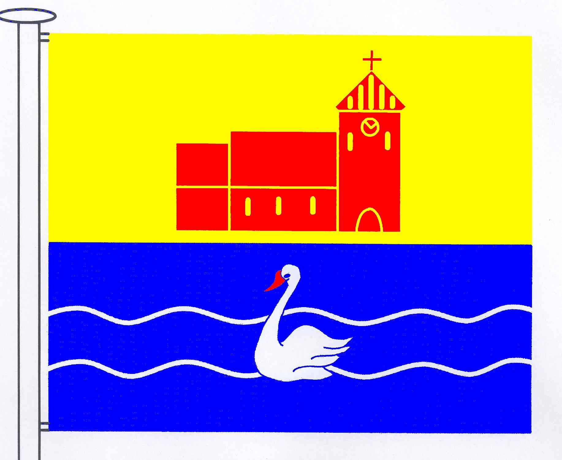 Flagge GemeindeKarby, Kreis Rendsburg-Eckernförde