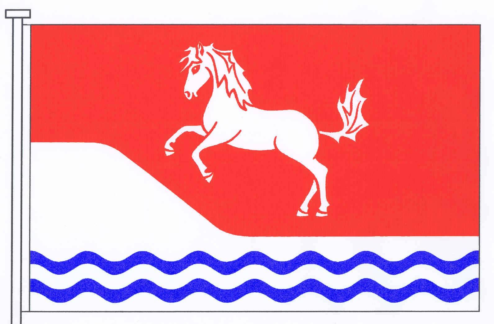 Flagge GemeindeKleve, Kreis Dithmarschen