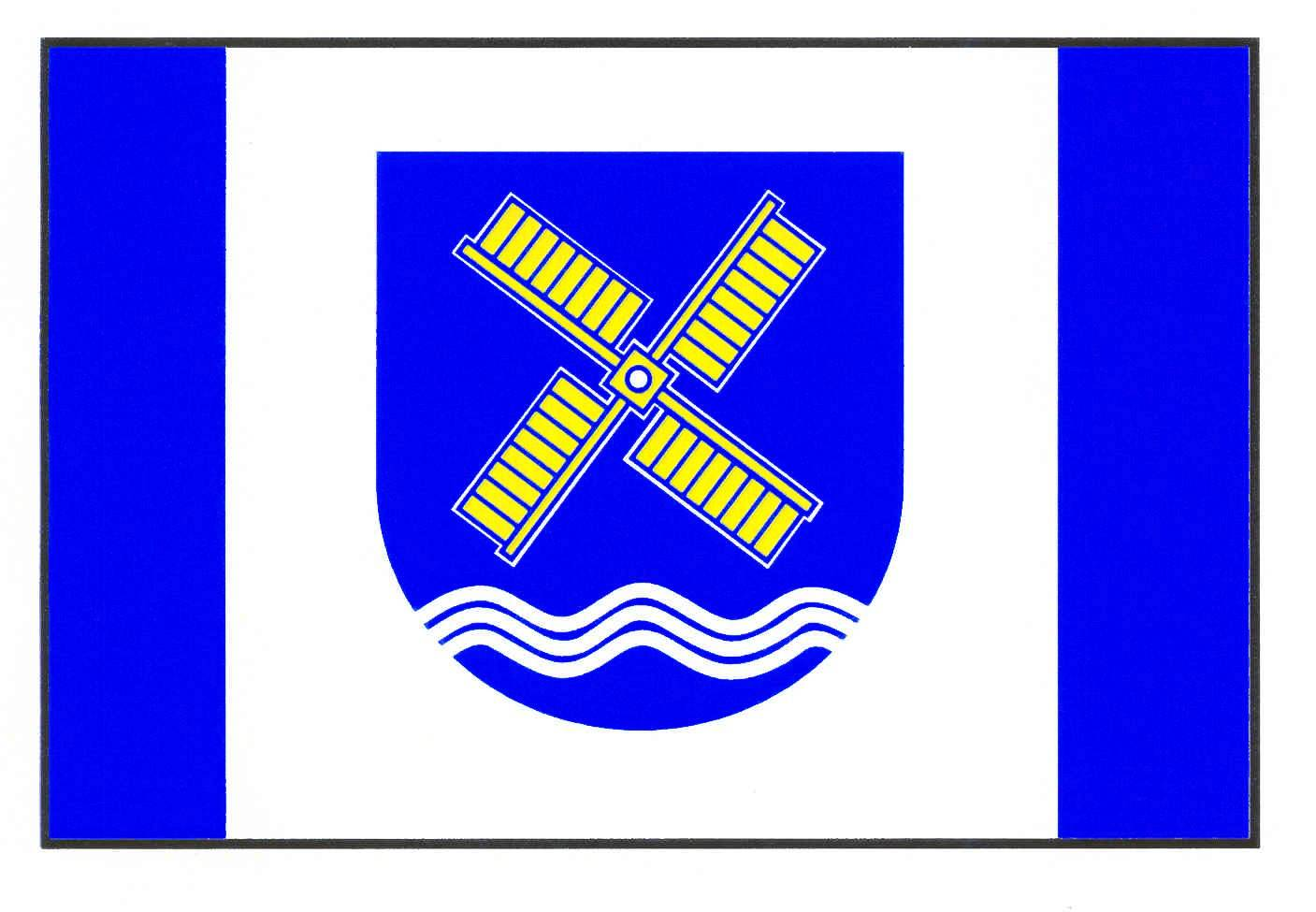 Flagge GemeindeKrokau, Kreis Plön