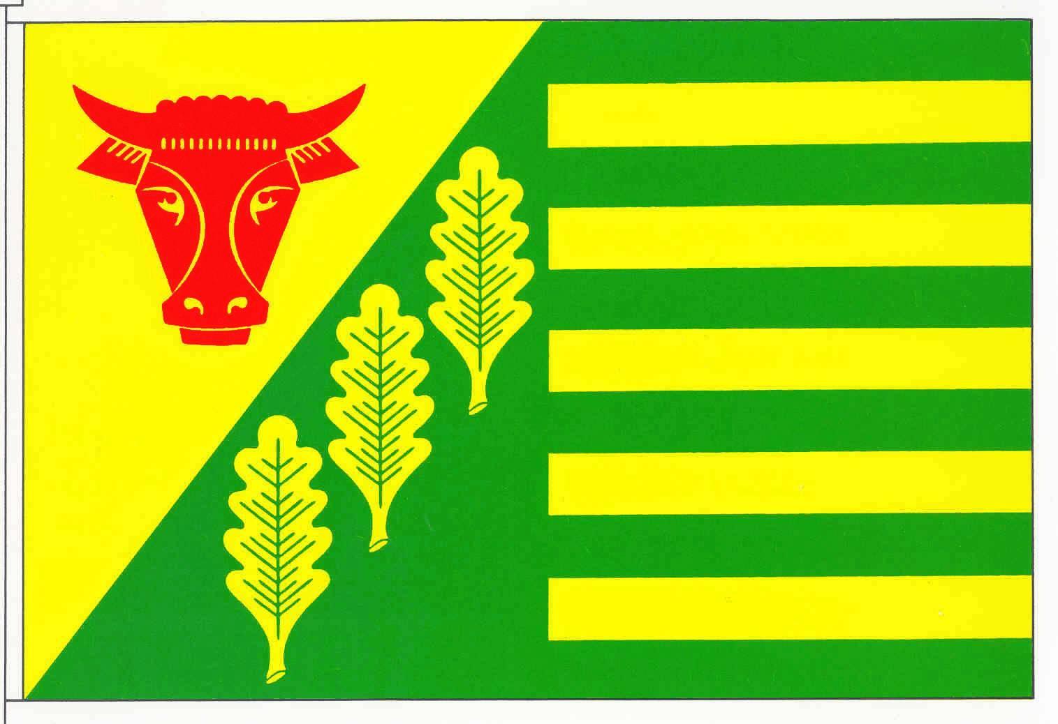 Flagge GemeindeKropp, Kreis Schleswig-Flensburg