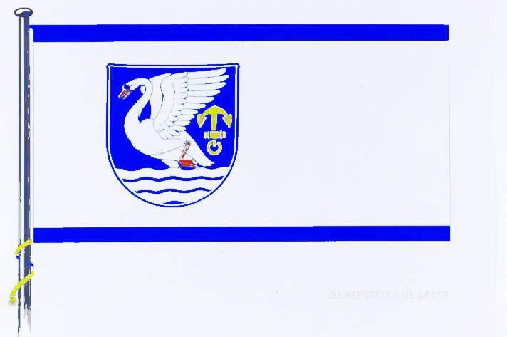 Flagge GemeindeLaboe, Kreis Plön