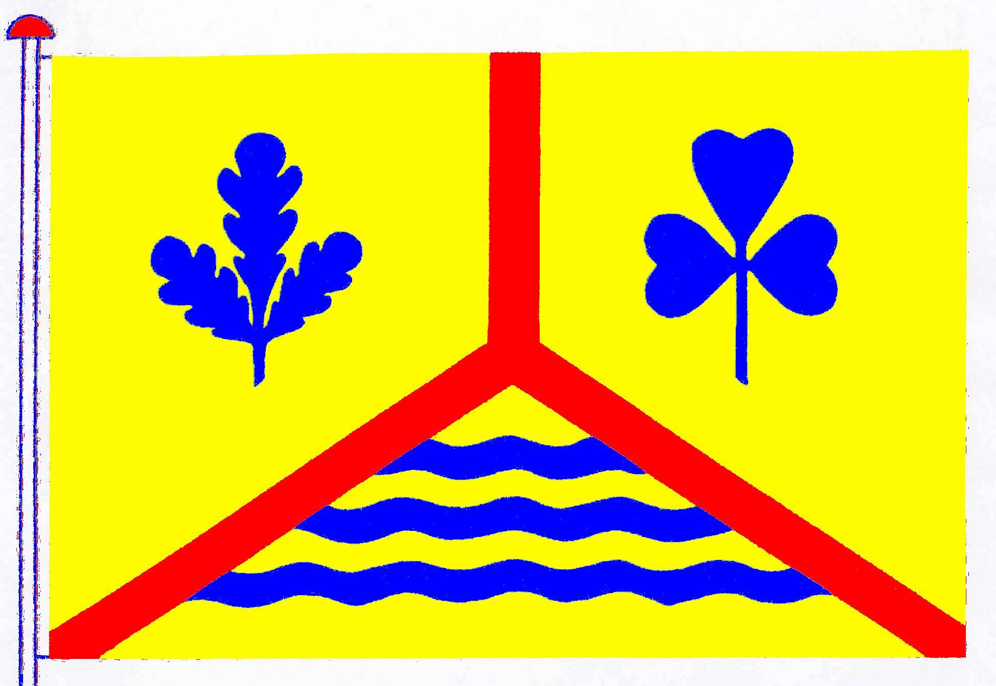 Flagge GemeindeLadelund, Kreis Nordfriesland