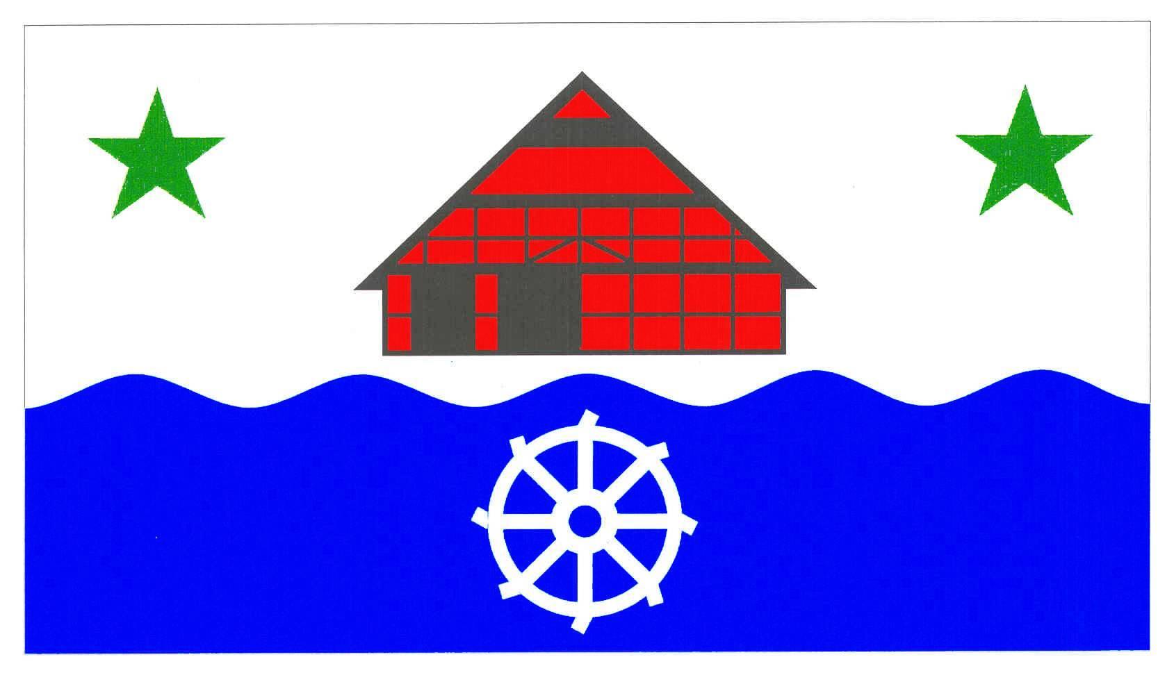 Flagge GemeindeMehlbek, Kreis Steinburg