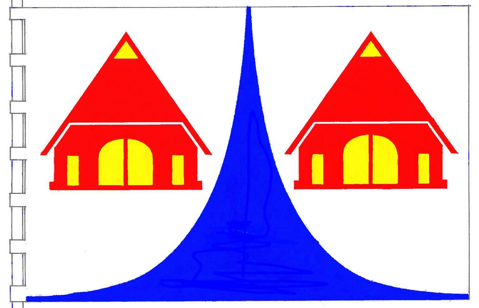 Flagge GemeindeNegernbötel, Kreis Segeberg