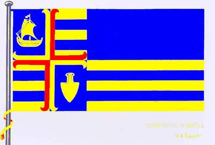 Flagge StadtNiebüll, Kreis Nordfriesland