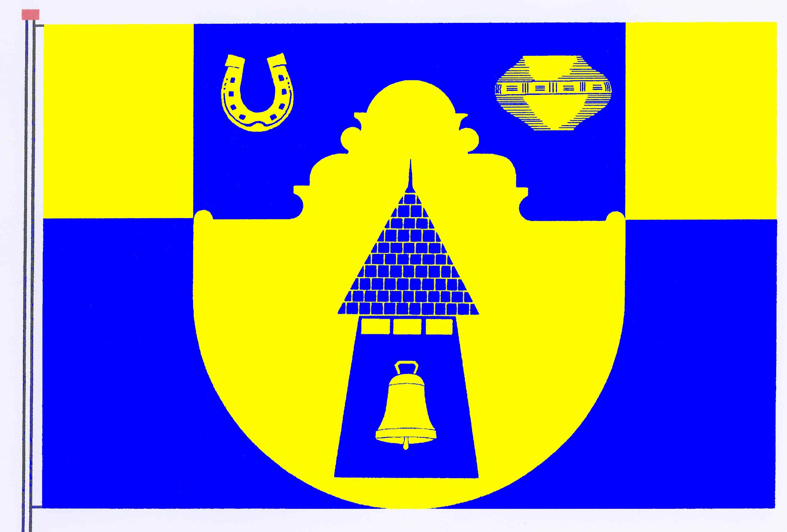 Flagge GemeindeNorderbrarup, Kreis Schleswig-Flensburg