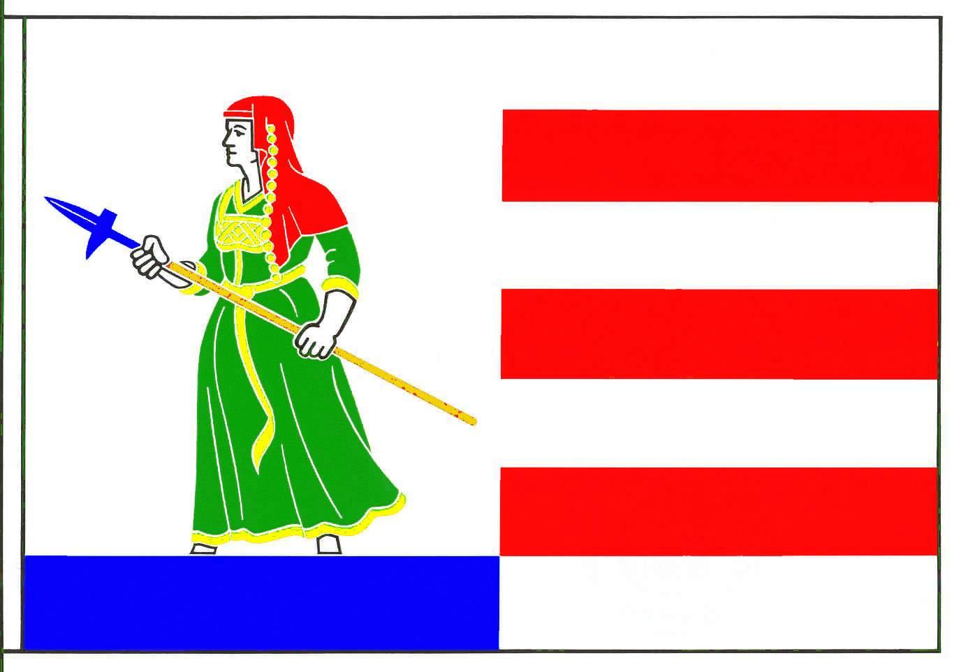 Flagge GemeindeNordhastedt, Kreis Dithmarschen