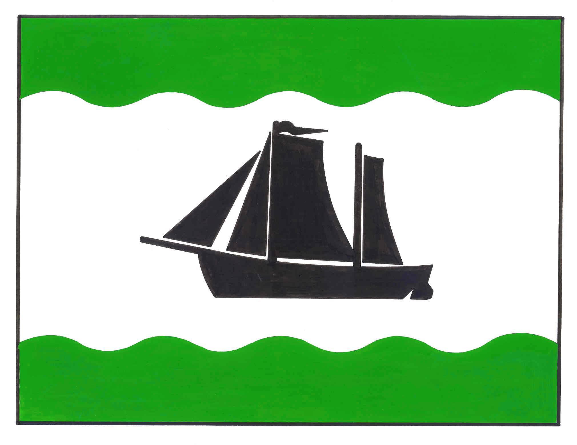Flagge GemeindeNübbel, Kreis Rendsburg-Eckernförde