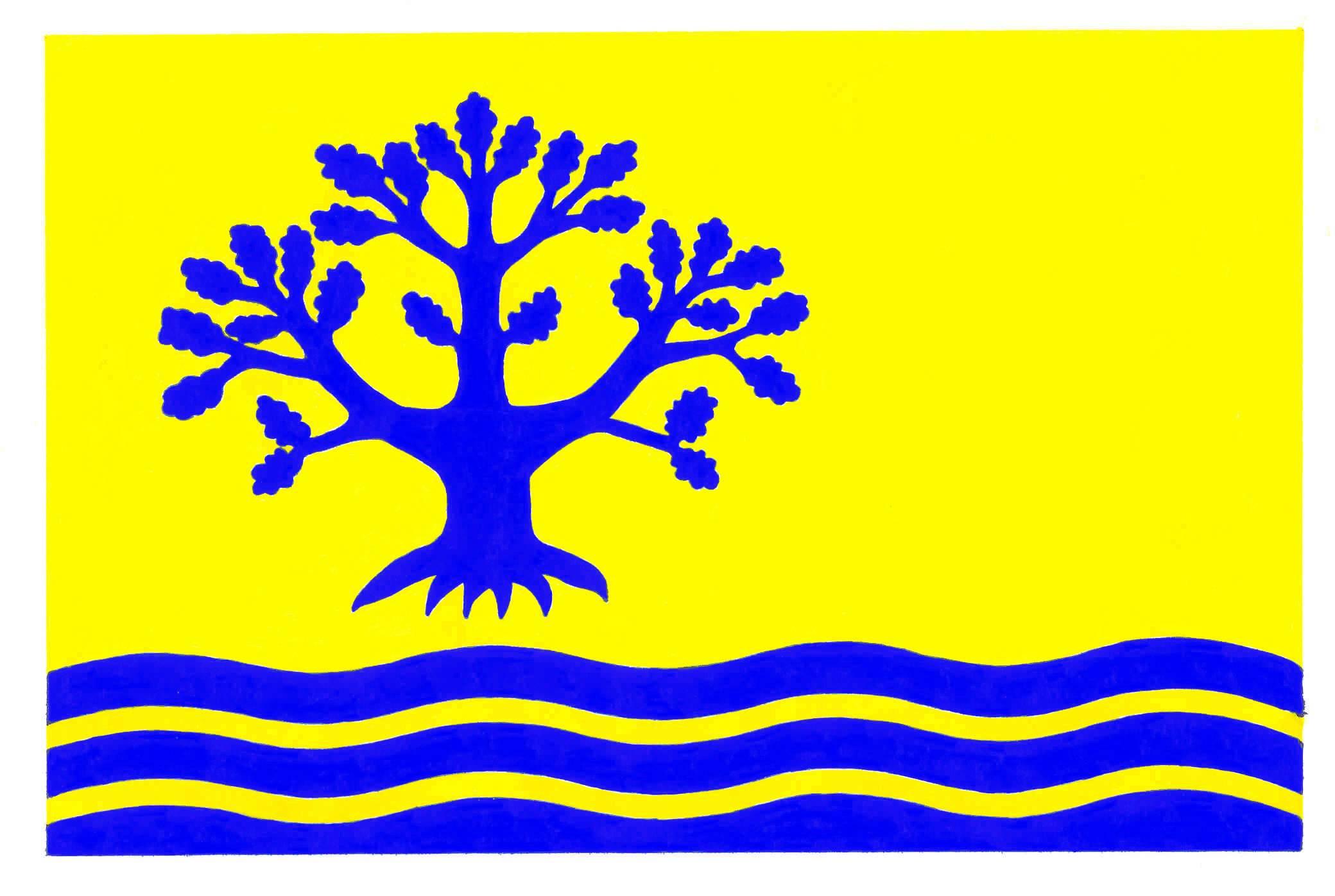 Flagge GemeindeNübel, Kreis Schleswig-Flensburg