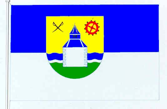 Flagge GemeindeOeversee, Kreis Schleswig-Flensburg
