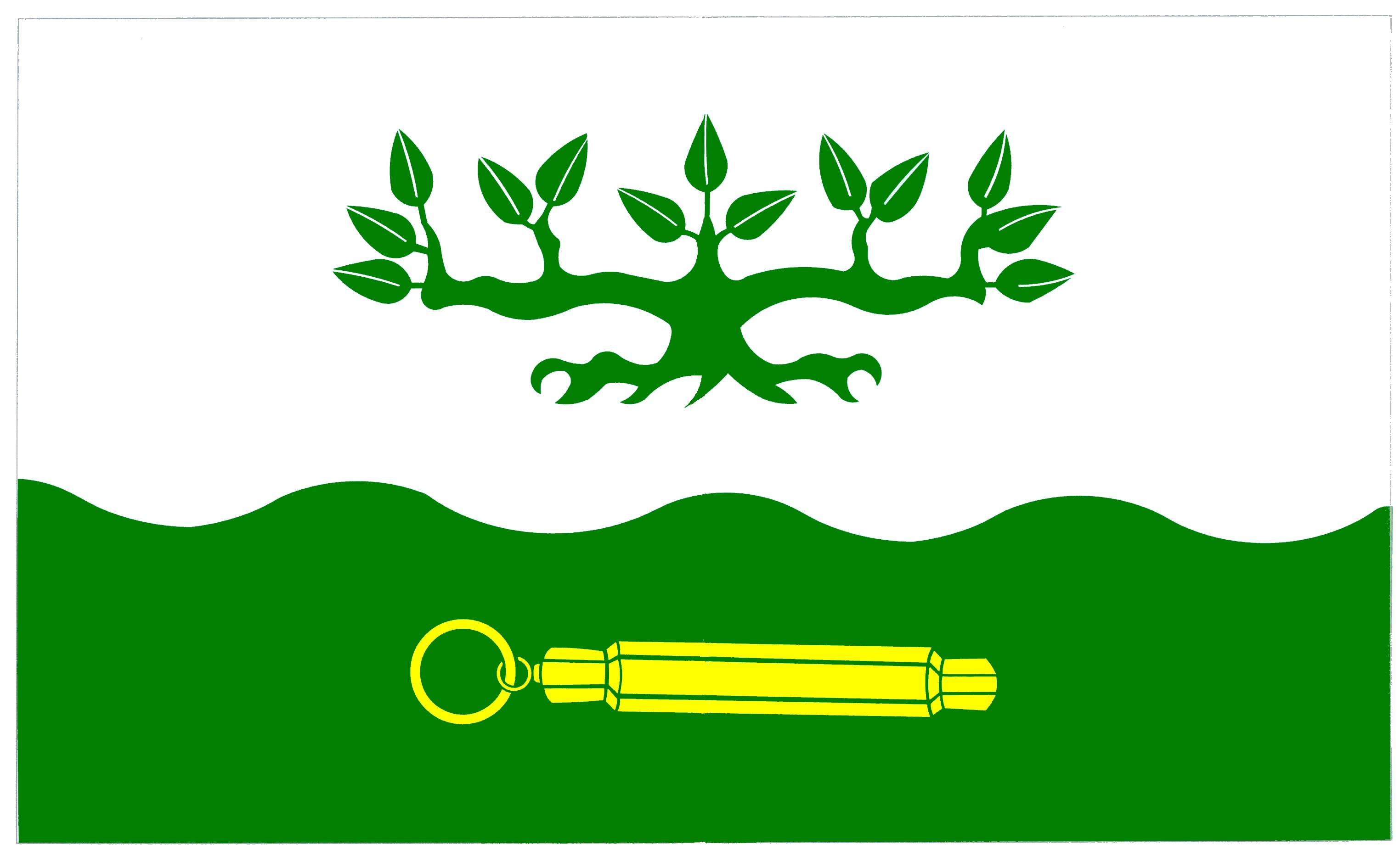 Flagge GemeindeOffenbüttel, Kreis Dithmarschen