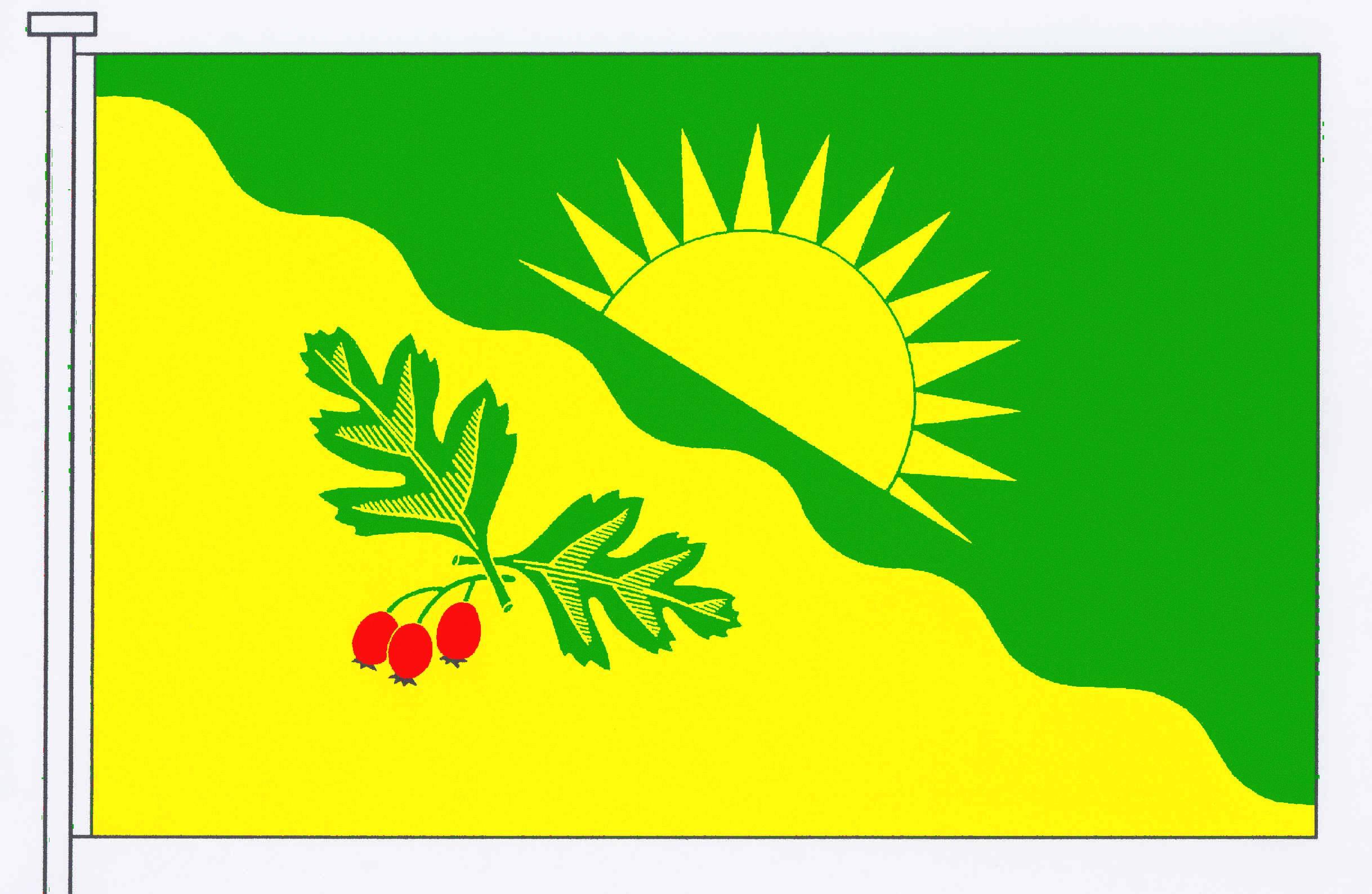 Flagge GemeindeOsterstedt, Kreis Rendsburg-Eckernförde
