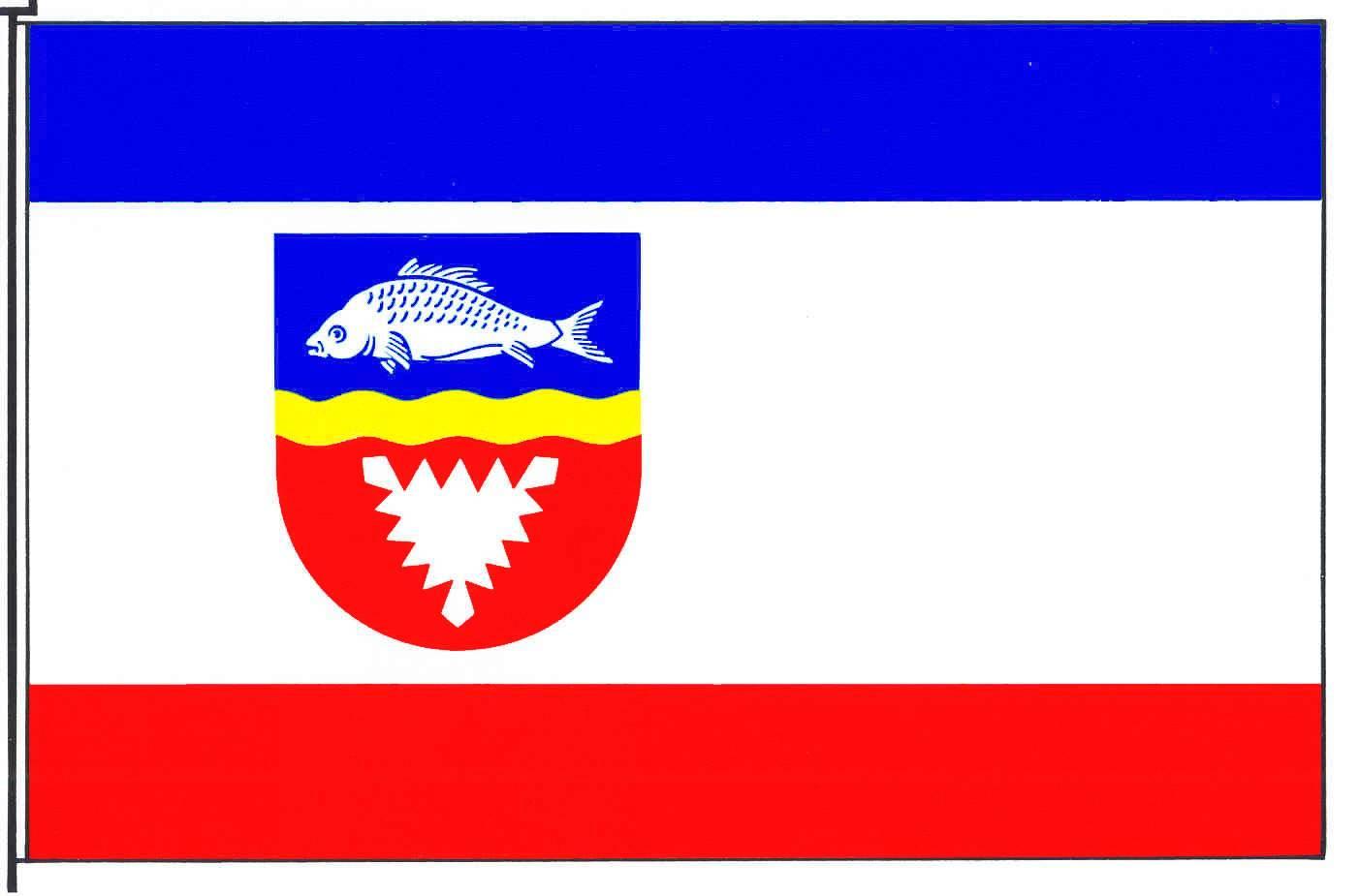 Flagge StadtPreetz, Kreis Plön