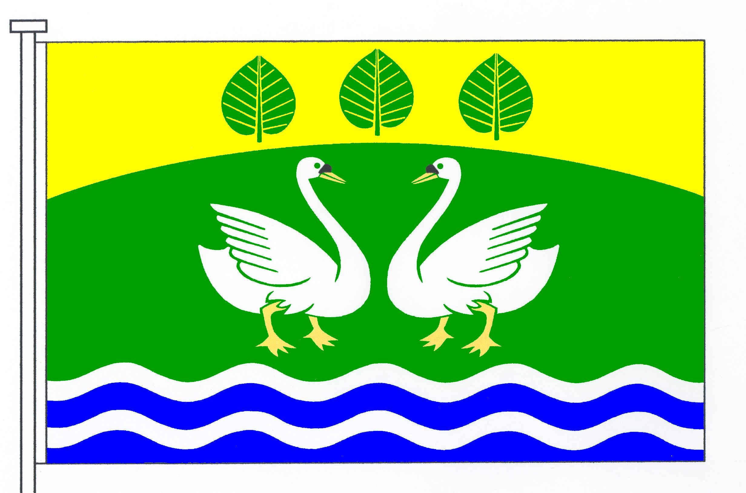 Flagge GemeindeSarzbüttel, Kreis Dithmarschen