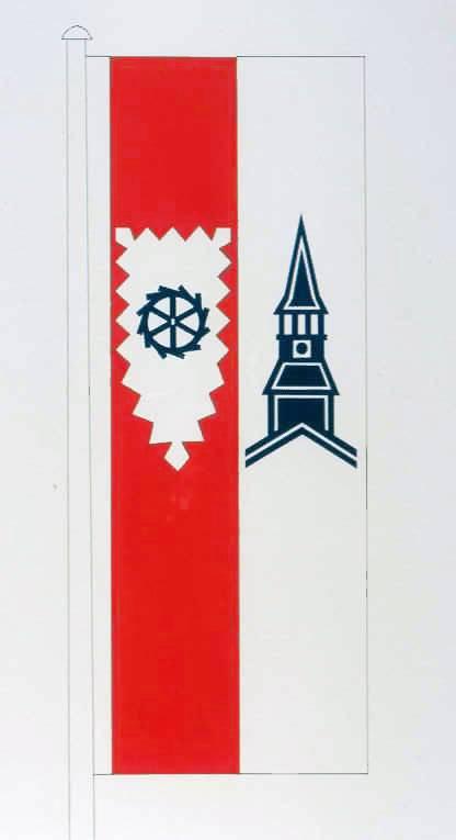 Flagge GemeindeSchenefeld, Kreis Steinburg