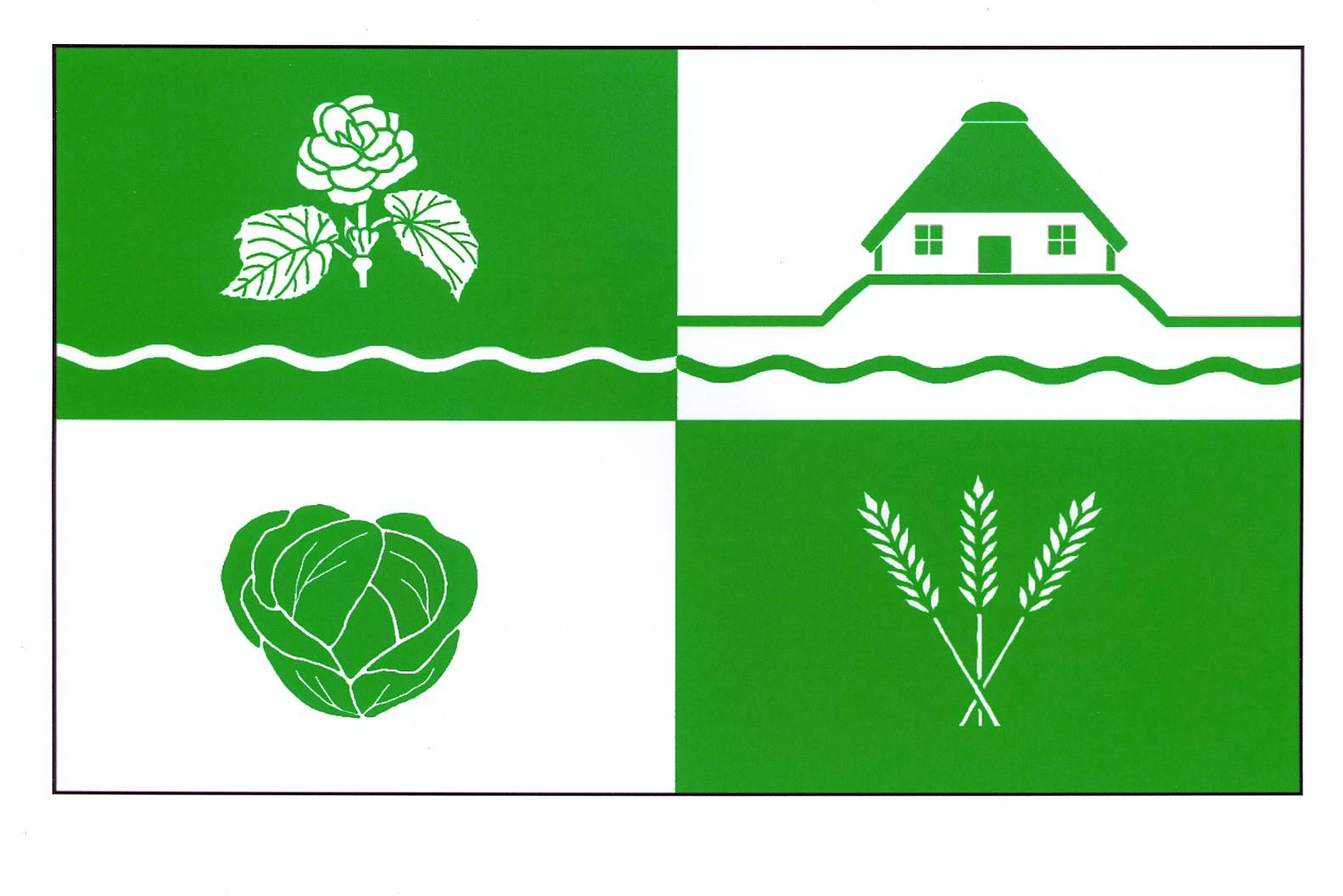 Flagge GemeindeSchülp, Kreis Dithmarschen