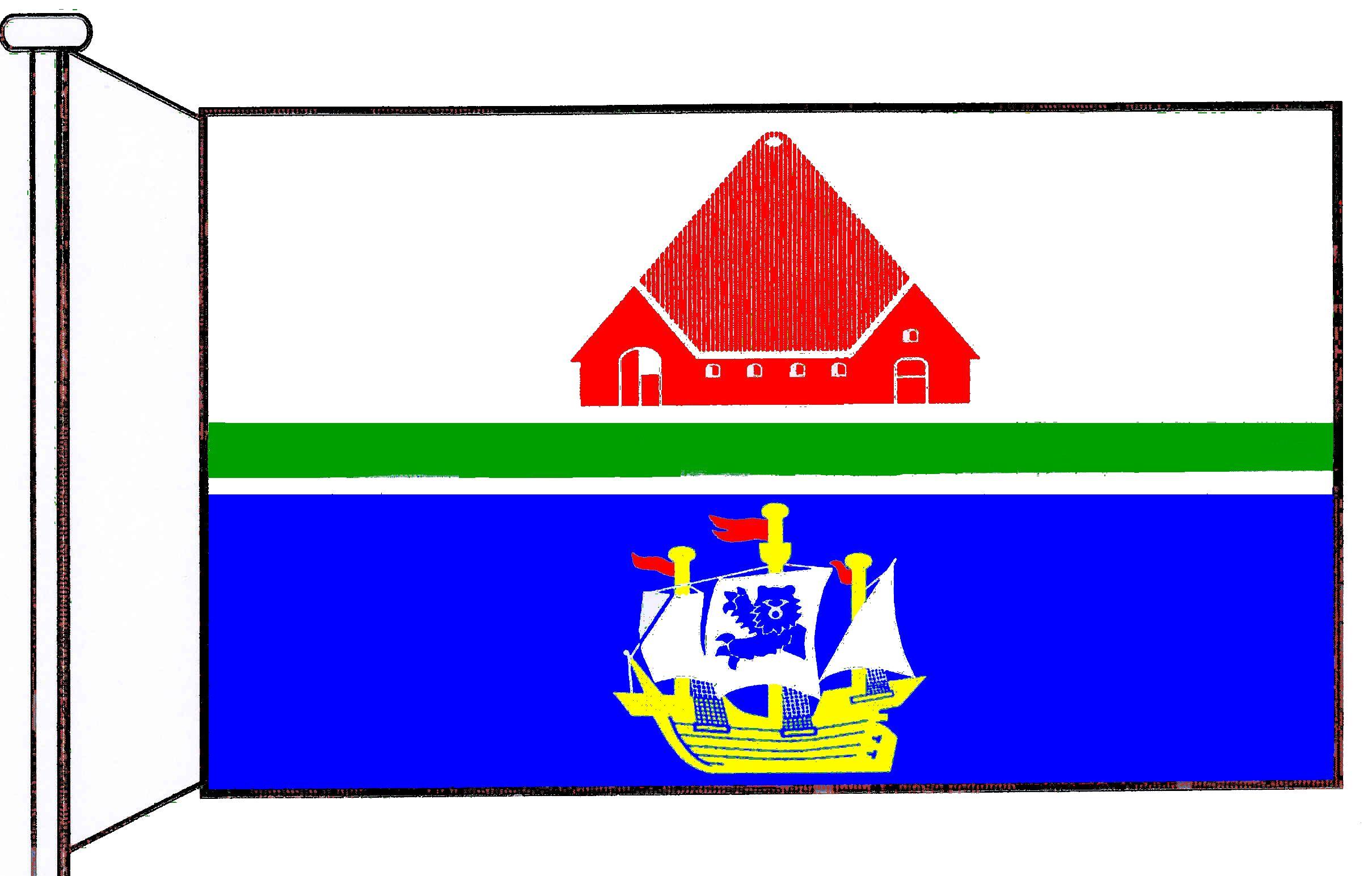 Flagge GemeindeTating, Kreis Nordfriesland