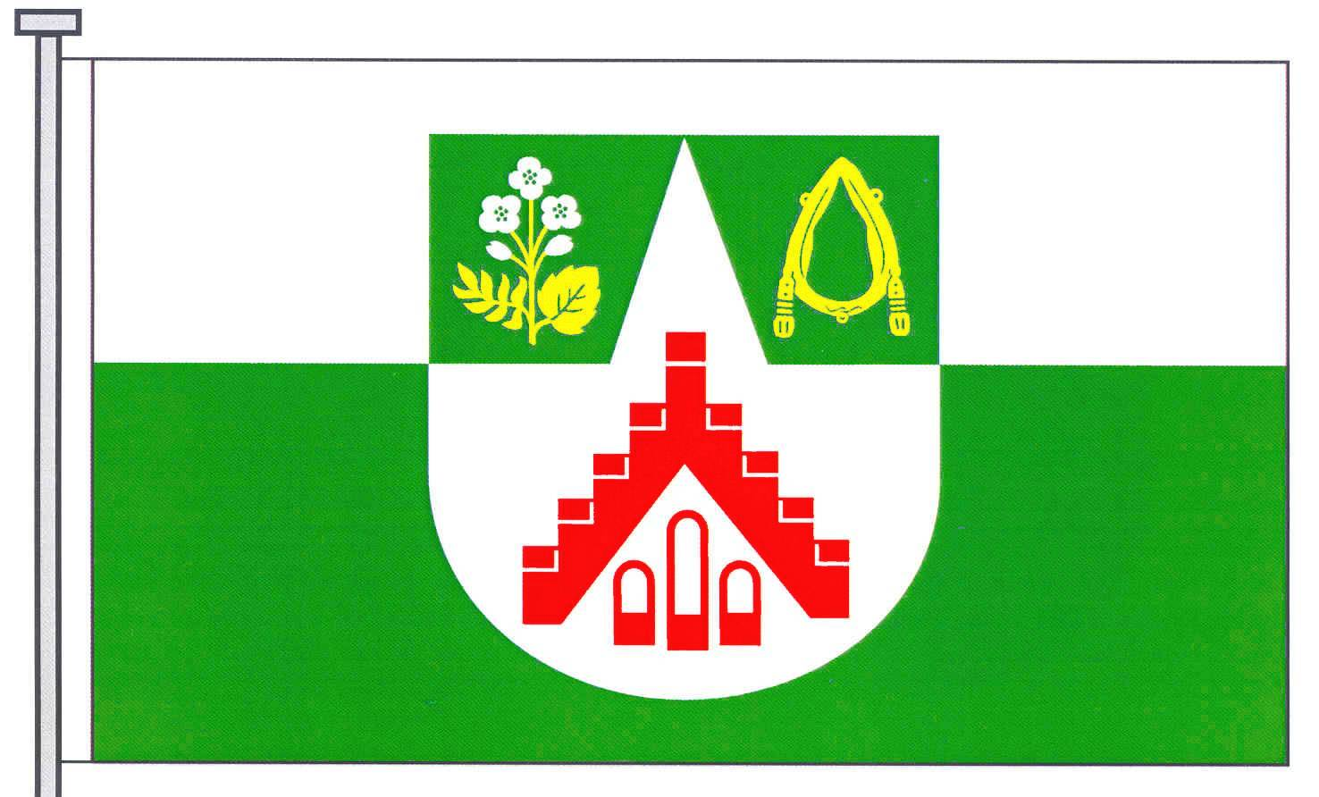 Flagge GemeindeTodesfelde, Kreis Segeberg