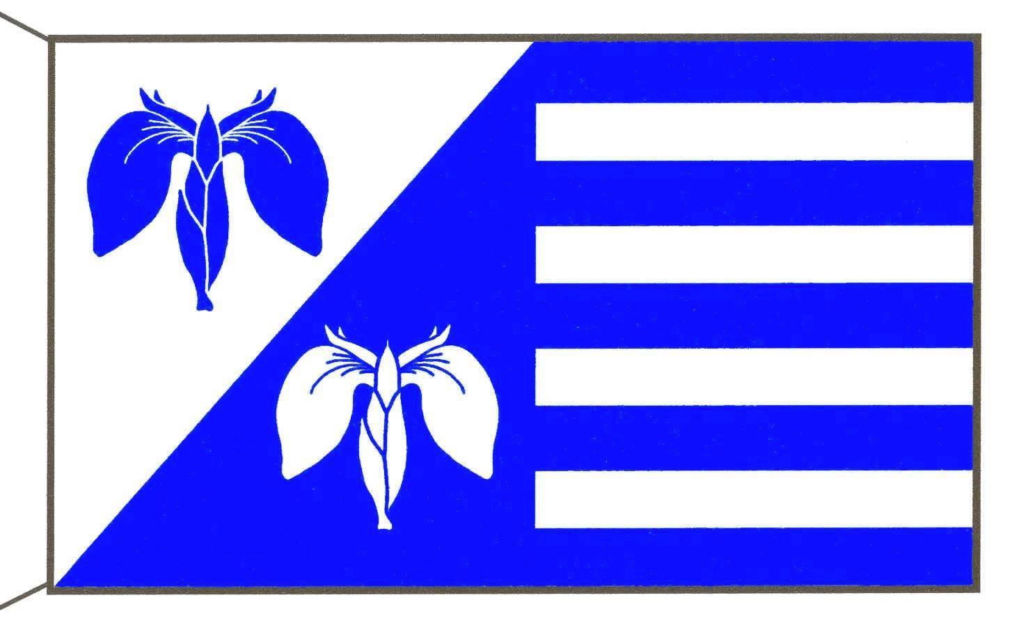 Flagge GemeindeTröndel, Kreis Plön