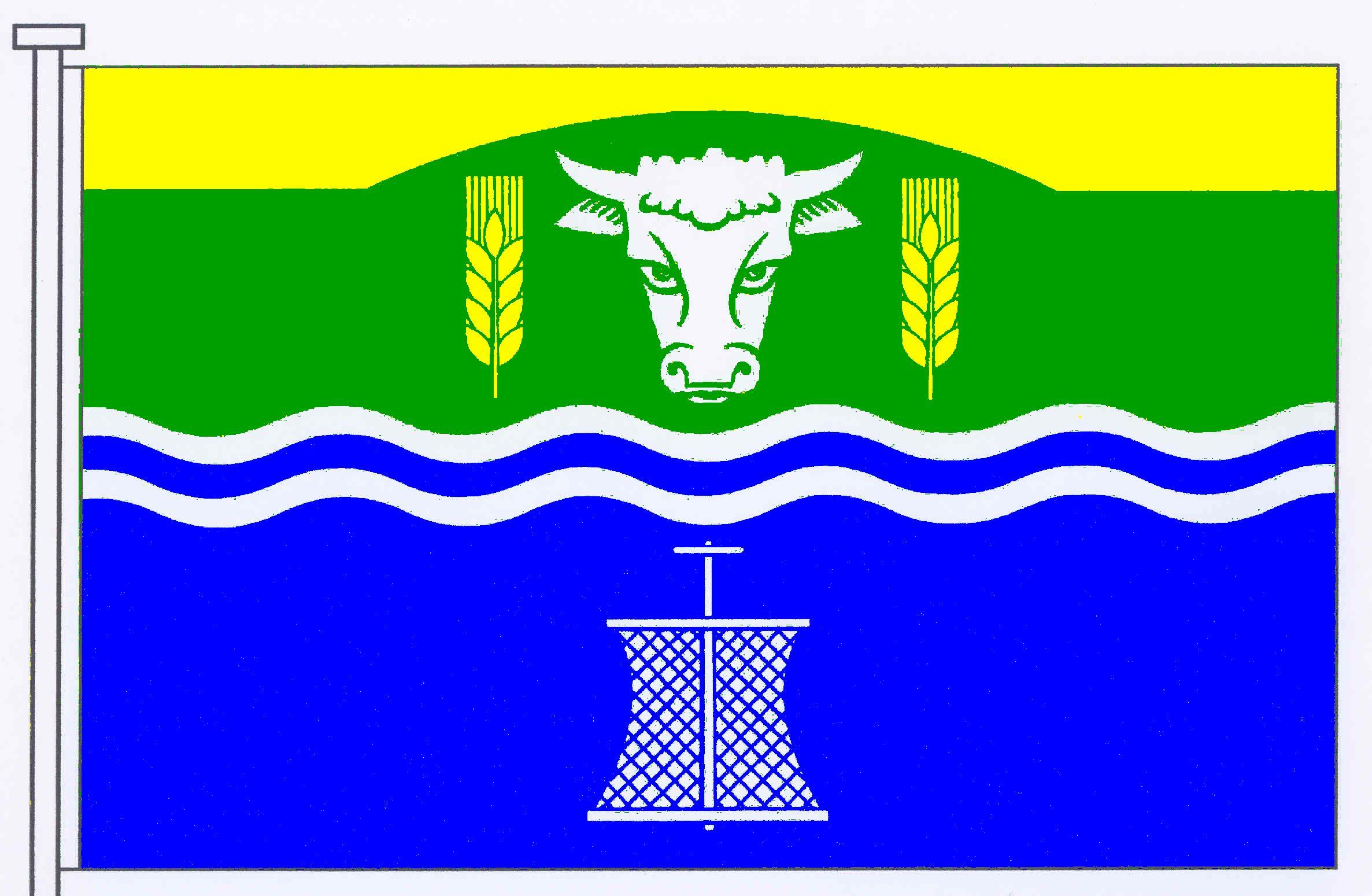 Flagge GemeindeUelvesbüll, Kreis Nordfriesland