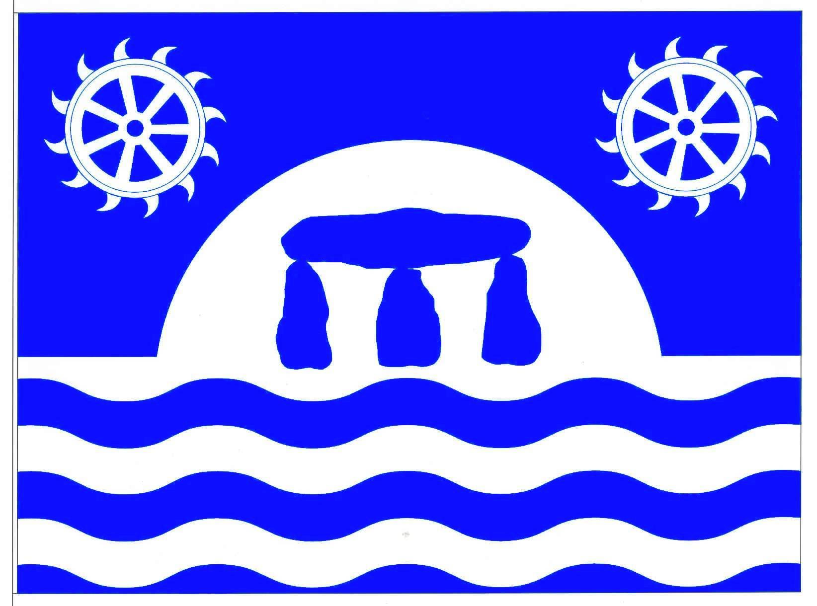 Flagge GemeindeWarder, Kreis Rendsburg-Eckernförde
