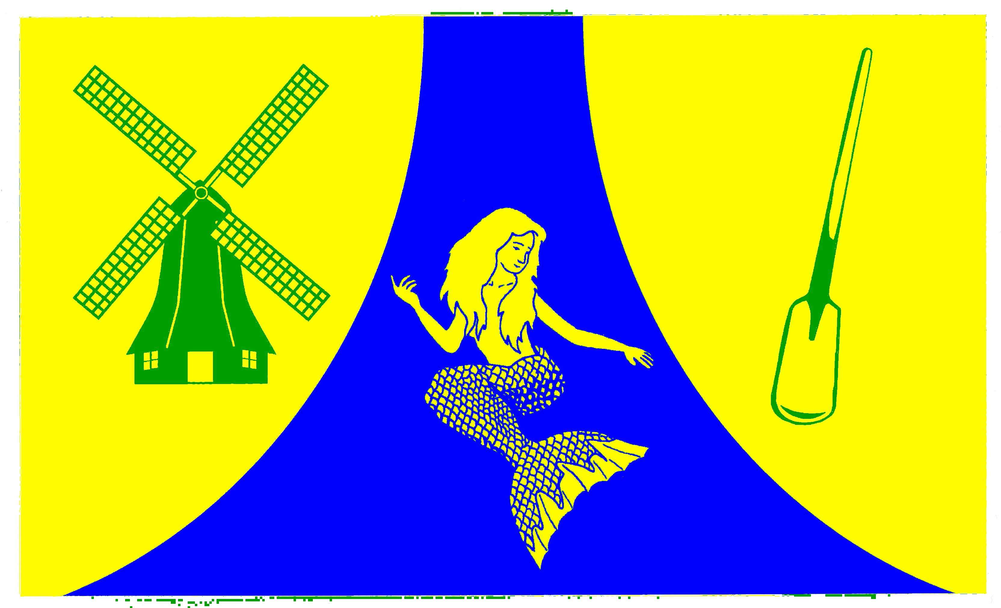 Flagge GemeindeWesterdeichstrich, Kreis Dithmarschen